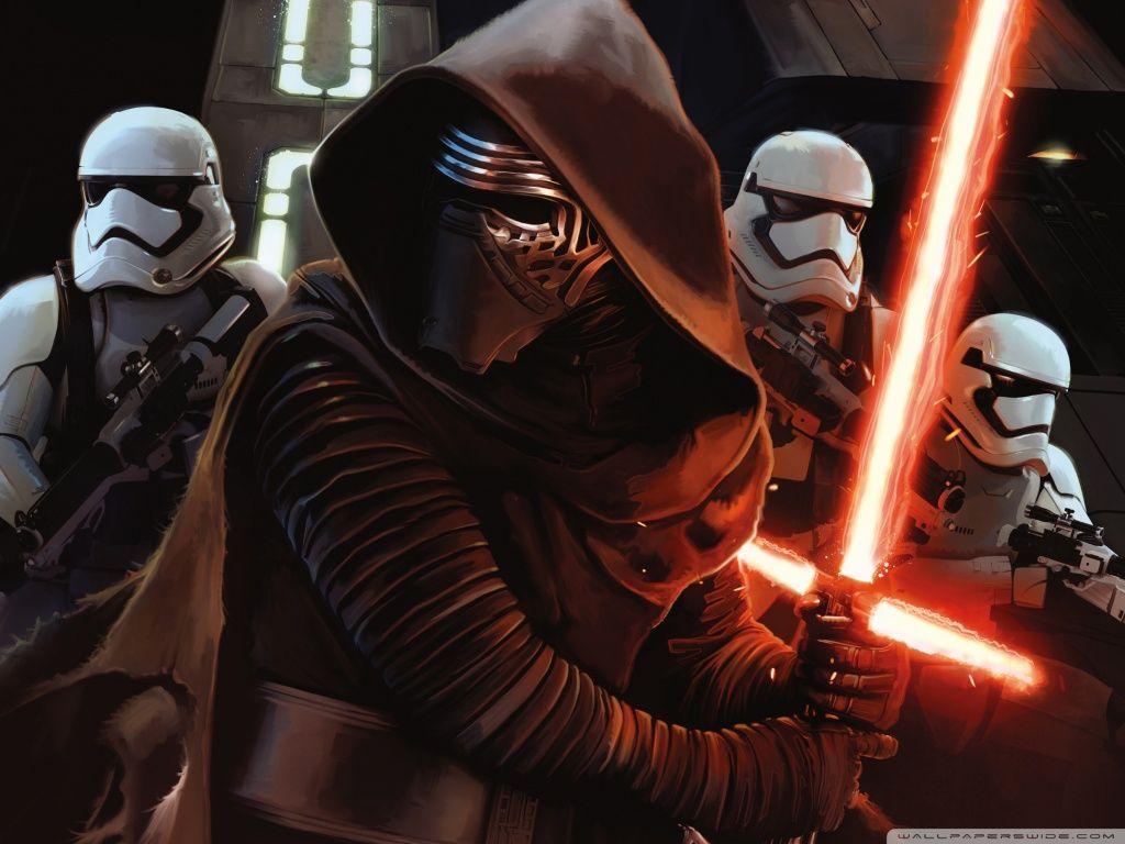 Kylon Ren with First Order StormTroopers HD desktop wallpaper ...