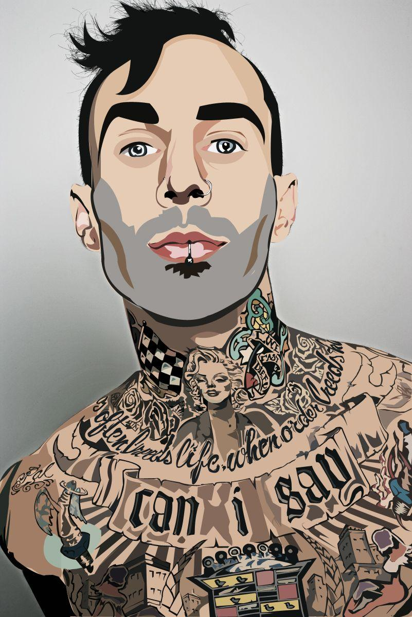 Travis Barker Vector by LuisValentine on DeviantArt