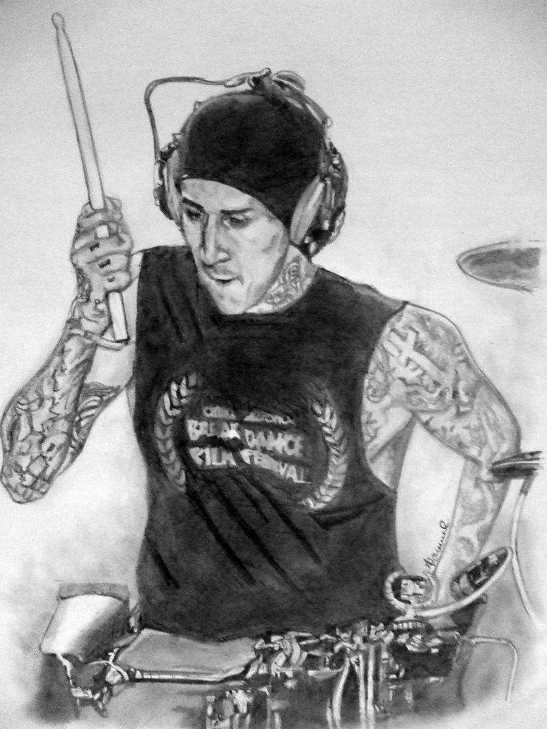 travis barker drawing by jordanh17 on DeviantArt