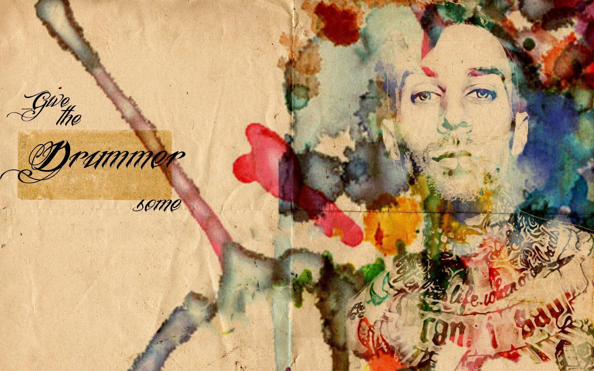 Travis Barker watercolor | Notifications of Nonsense