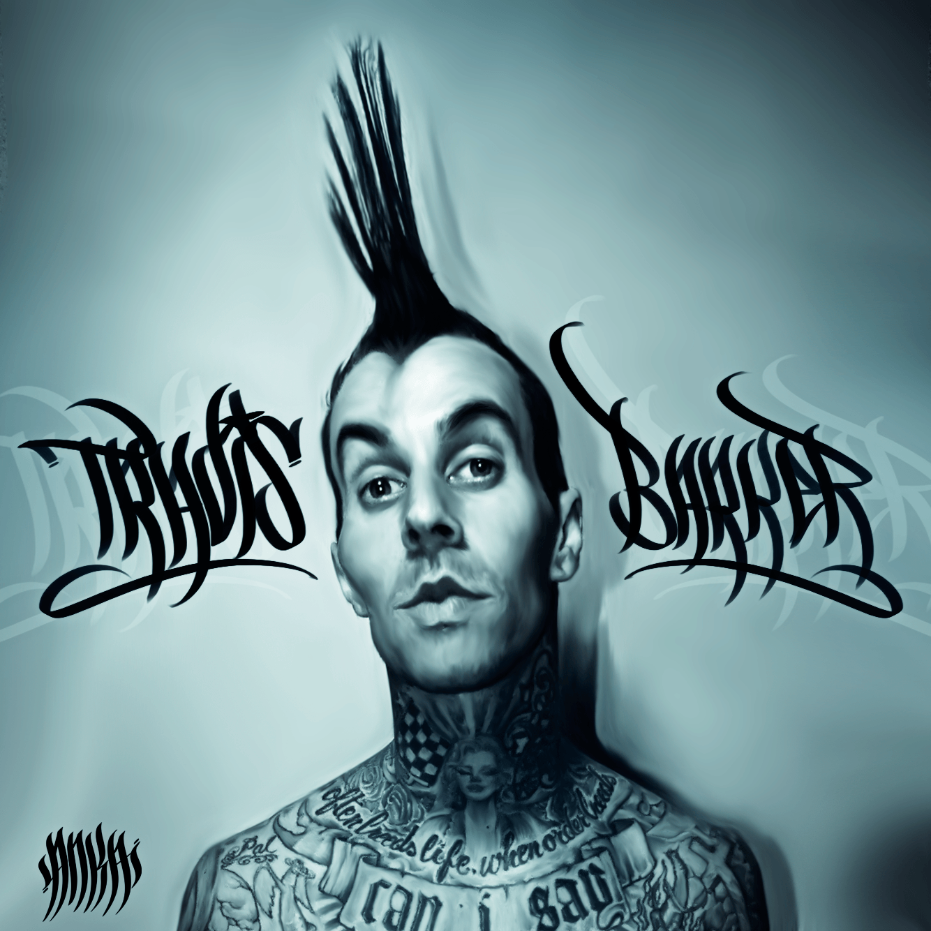 Travis Barker Smudge Art by Bhiqm on DeviantArt