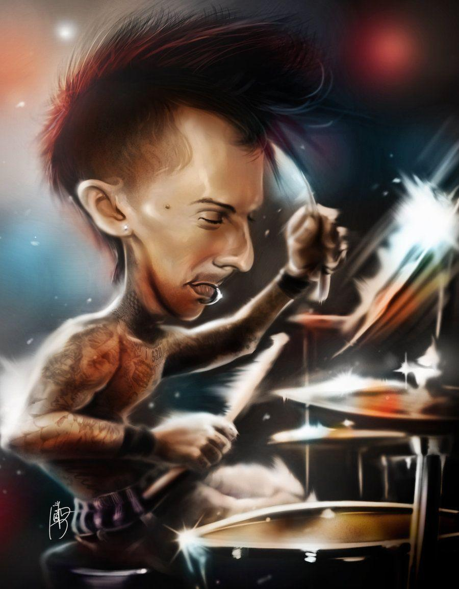 travis barker blink 182 by joeymasong on DeviantArt