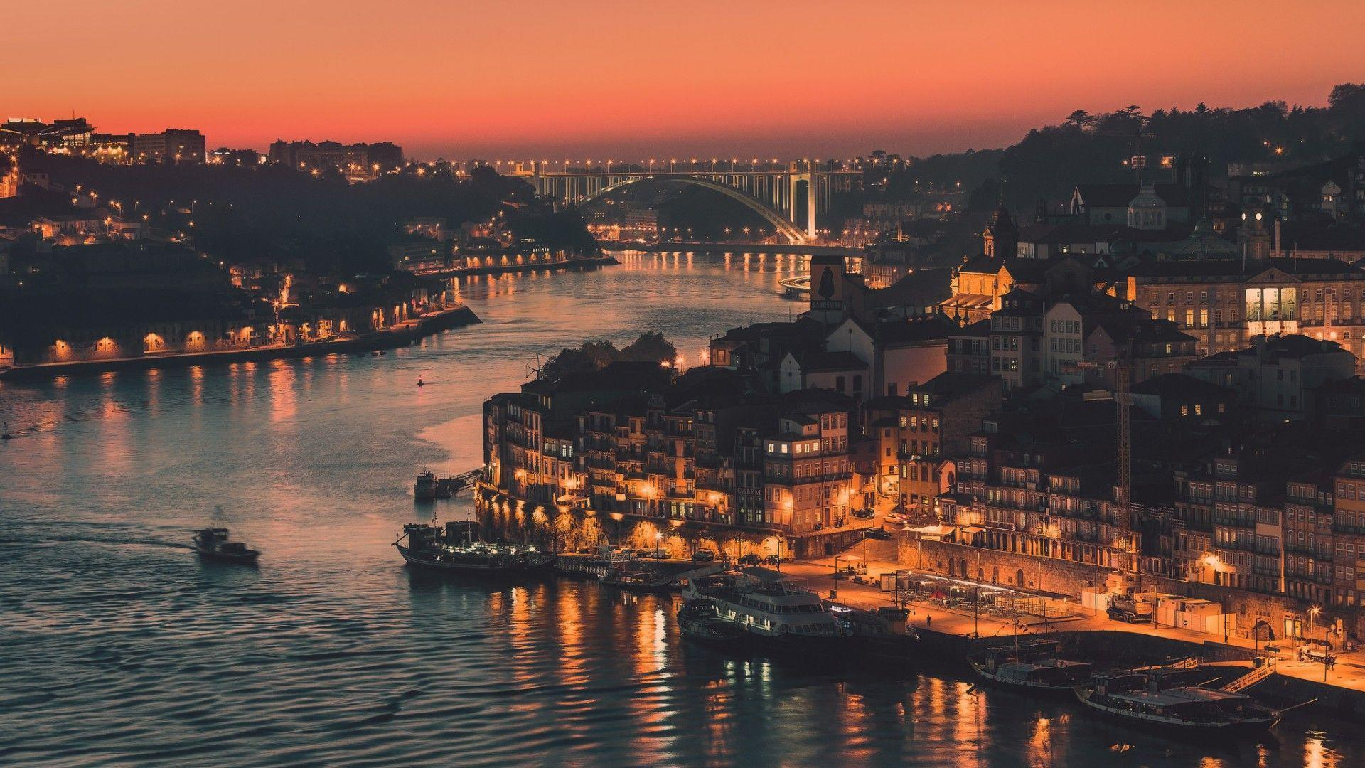 Portugal, the city of Porto 1920x1080 (1080p) - Wallpaper - HD ...