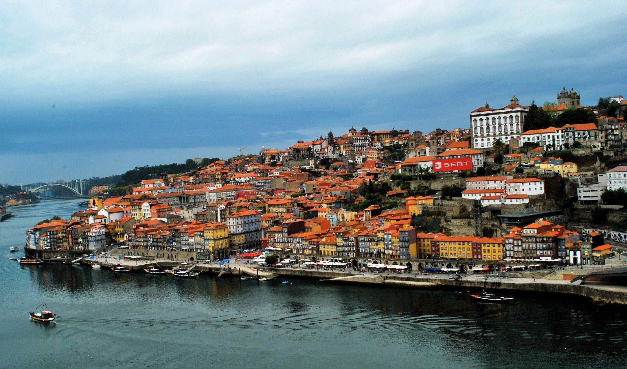 Image Porto Portugal Coast From above Cities Building