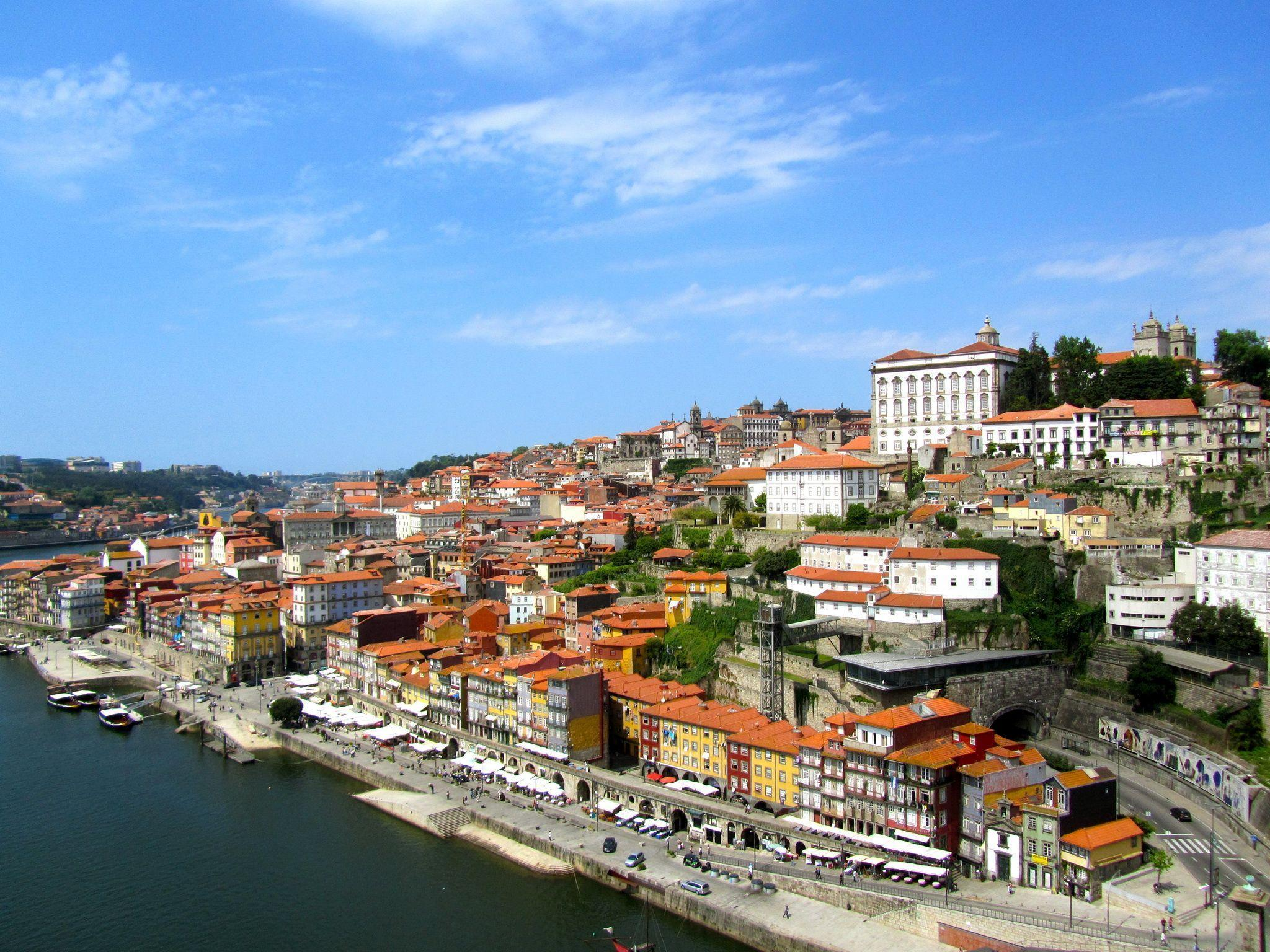Wallpapers Portugal Houses Sky Porto Cities download photo