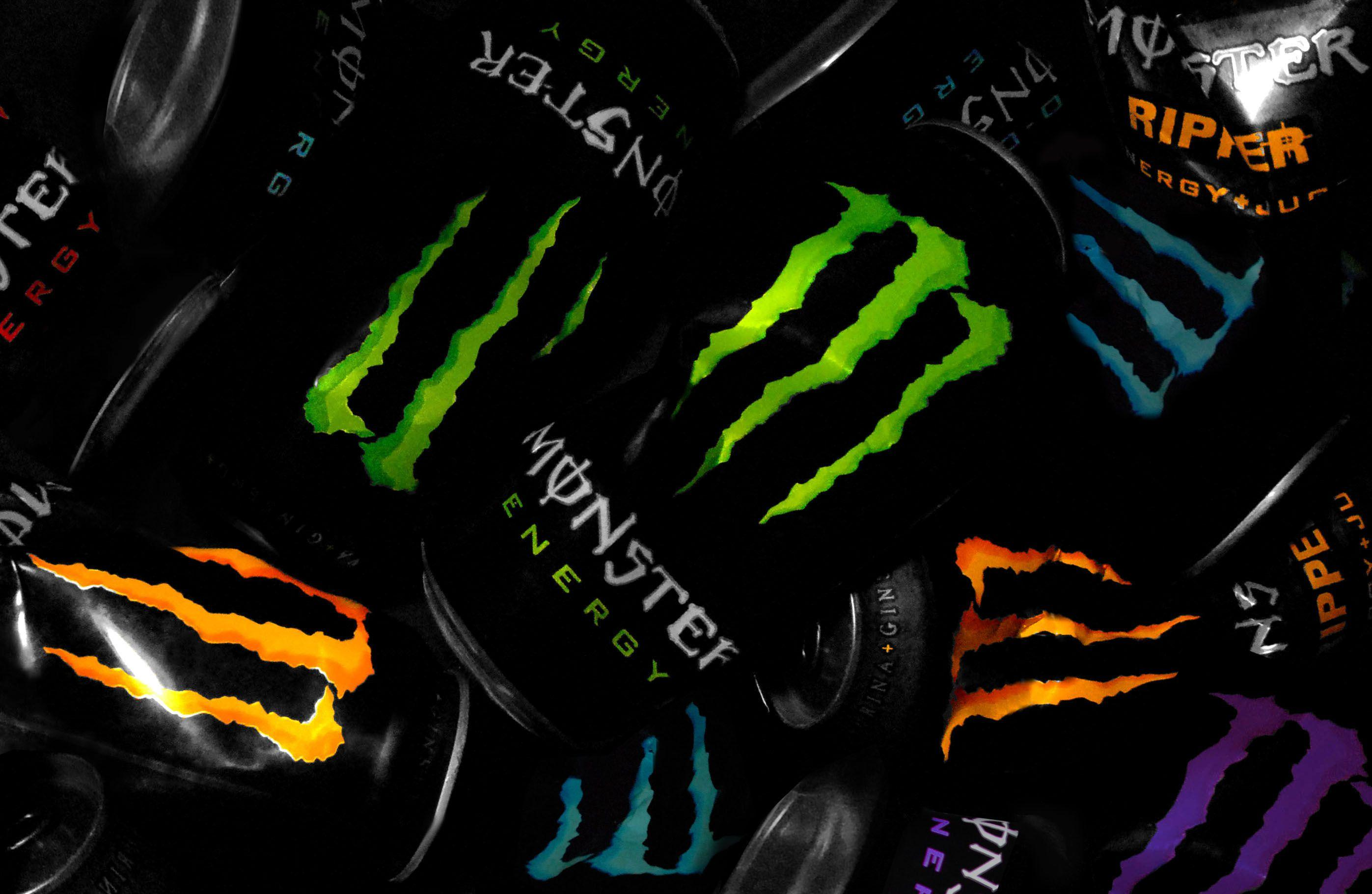 Many Monster Energy Tins Photo Picture HD Wallpaper Free | Monster ...