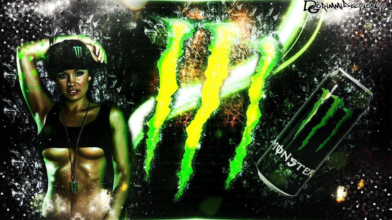 Speedart | Monster Energy Wallpaper | by GrimmiDesigns - YouTube