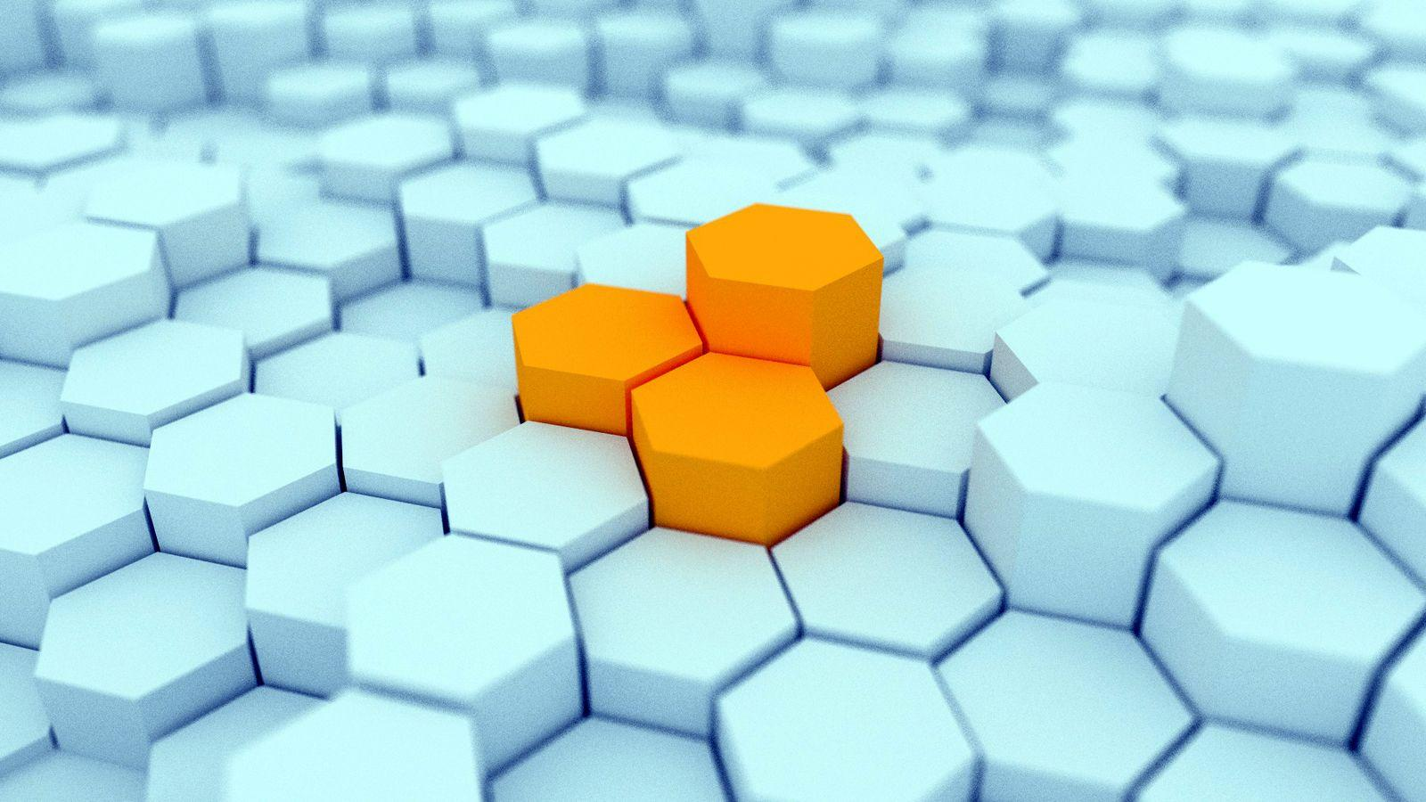 3D Hexagon Blocks HD Wallpaper | 3D Logo's | Pinterest ...