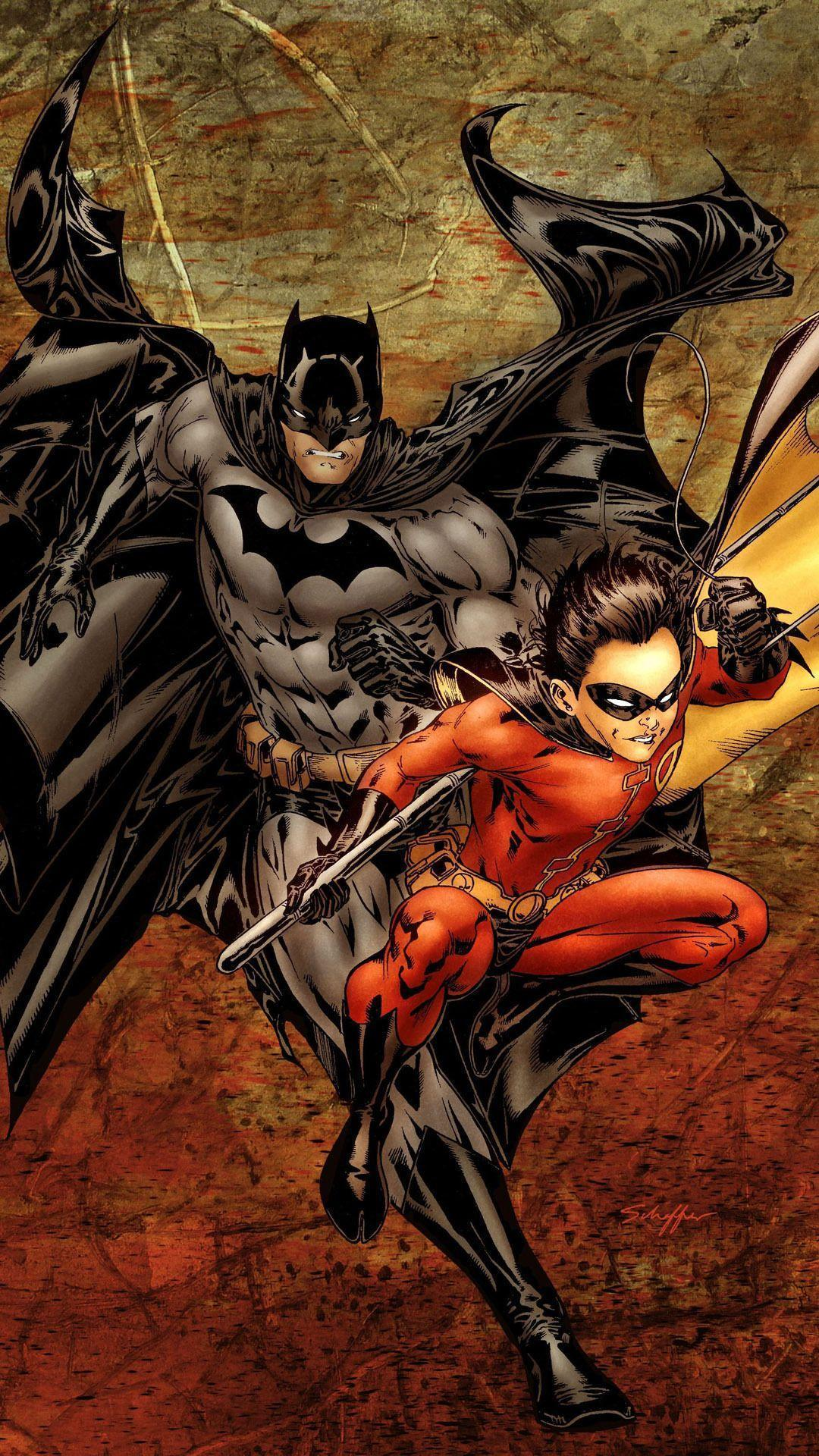 Batman and Robin Mobile Wallpaper 10004