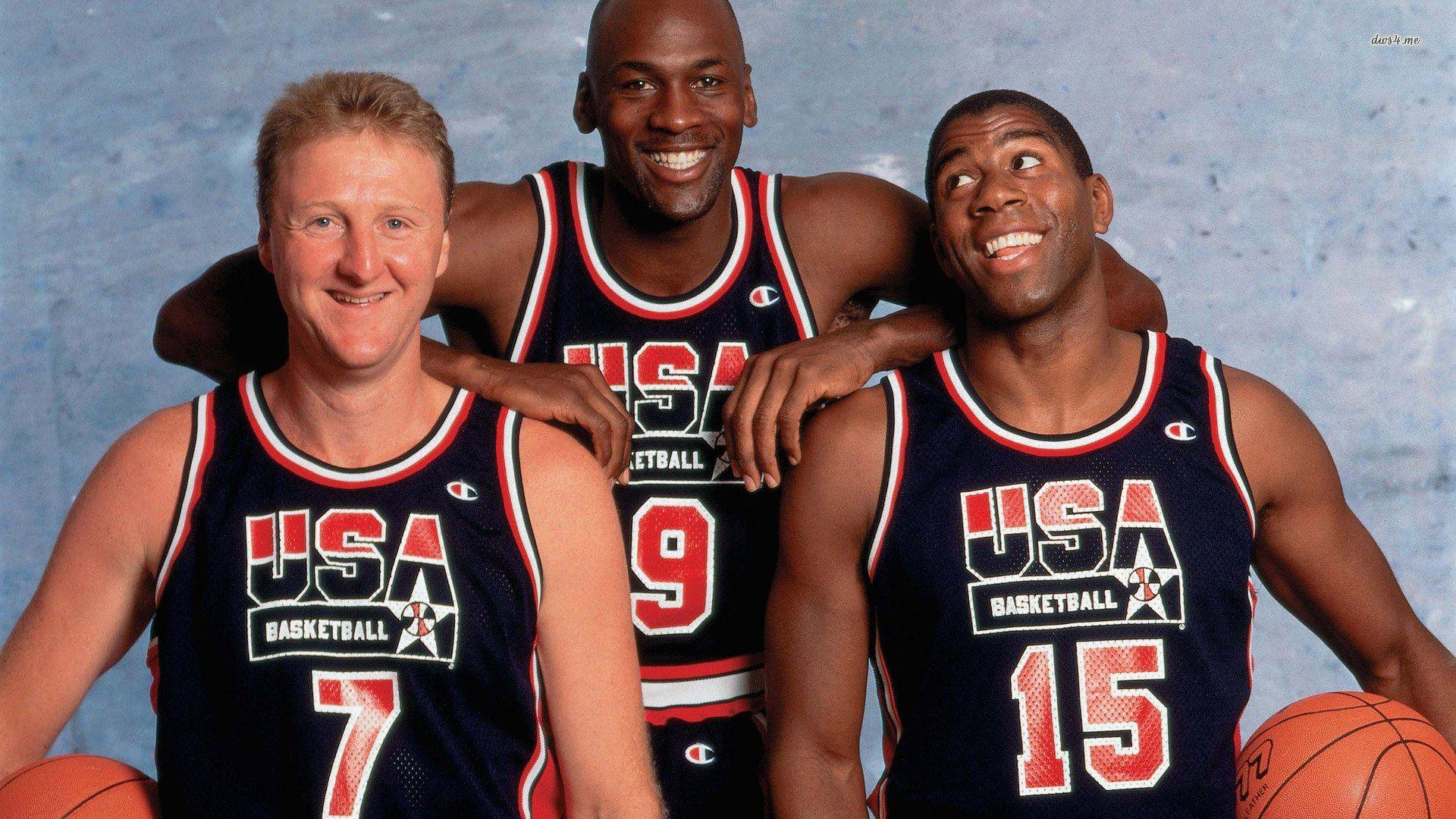 Michael Jordan Larry Bird Magic Johnson Wallpapers