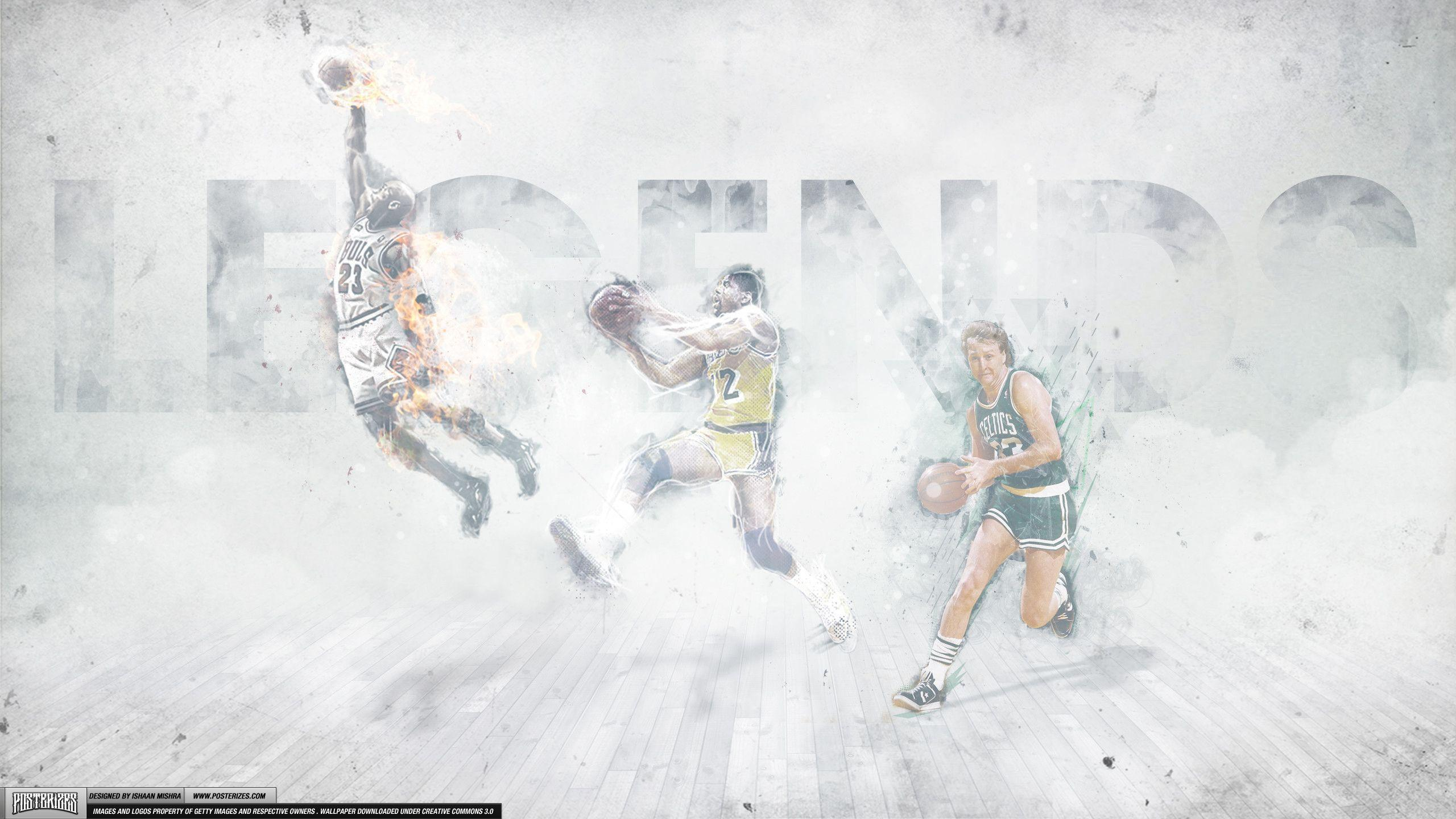 Magic Johnson, Larry Bird, Michael Jordan – 'Legends'