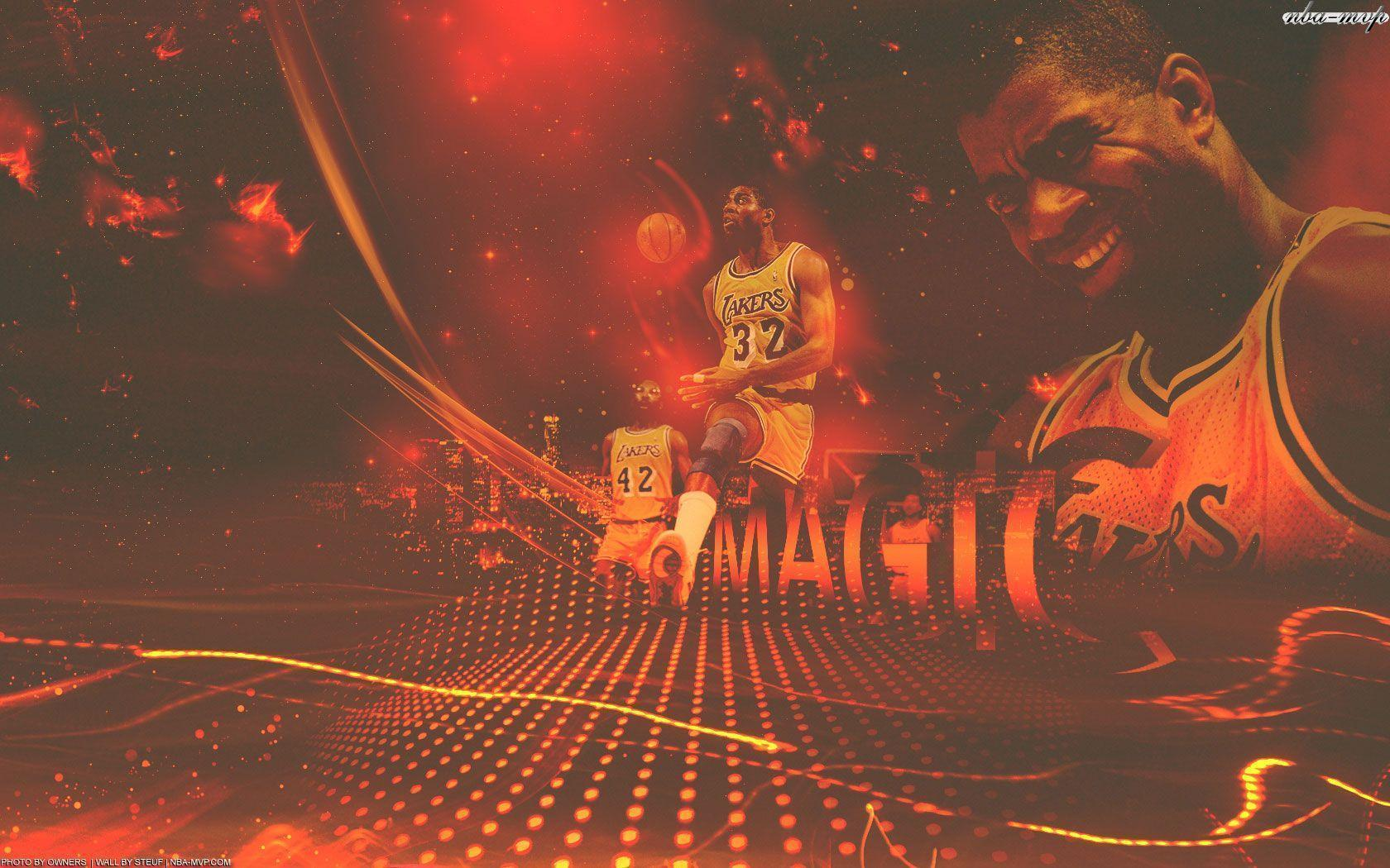 Magic Johnson Lakers 1680×1050 Wallpapers