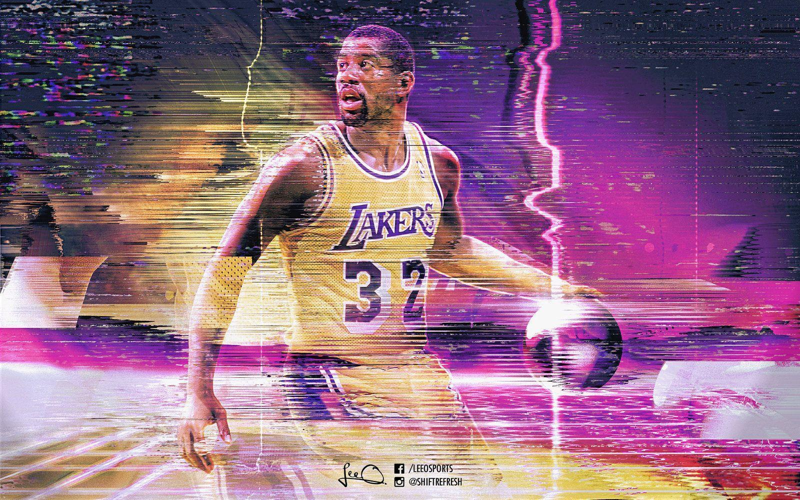 Magic Johnson Retro NBA Wallpapers by skythlee