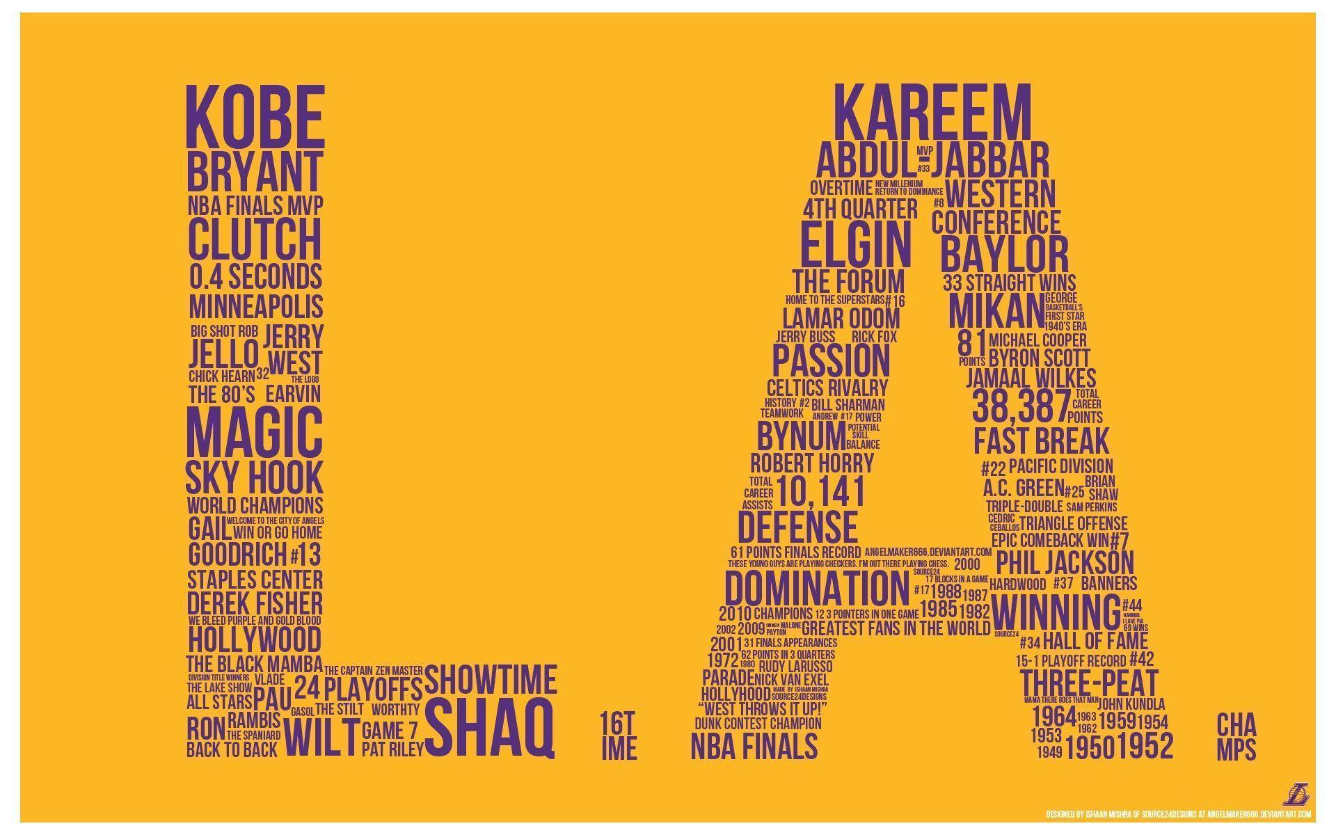 Los Angeles Lakers Kobe Bryant Magic Johnson Karen
