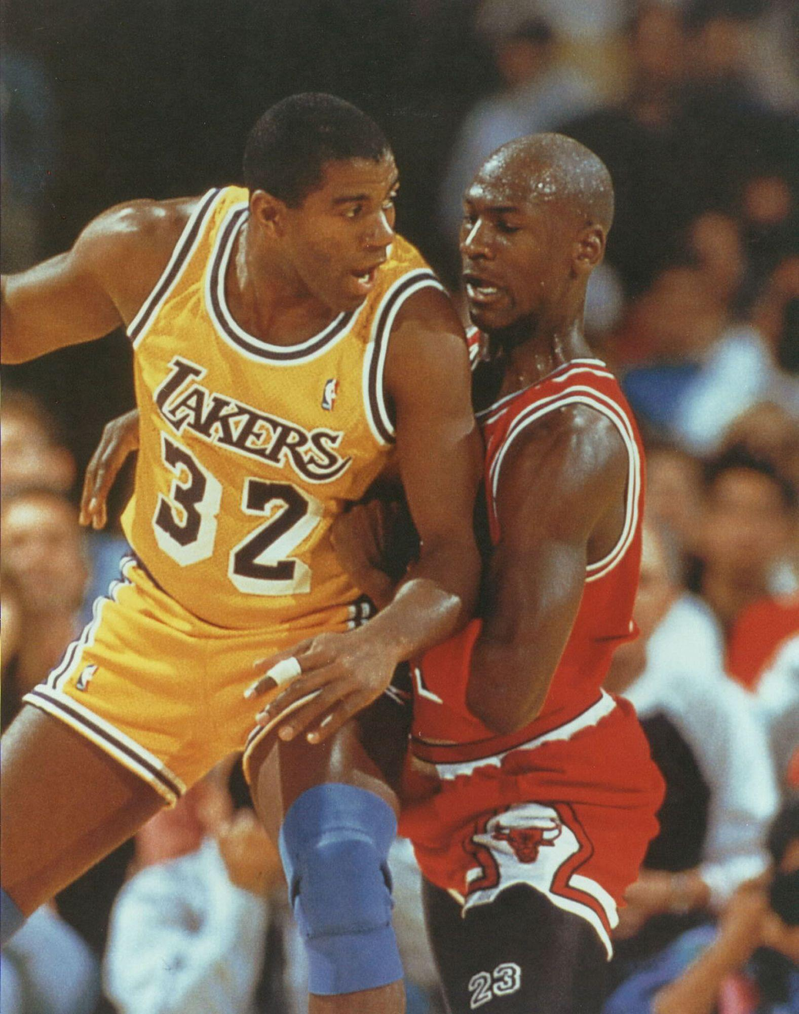 basketball michael jordan magic johnson