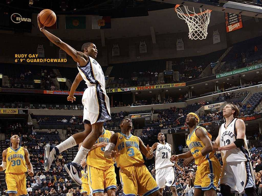 NBA Grizzlies NO.22 Rudy Gay Dunk picture
