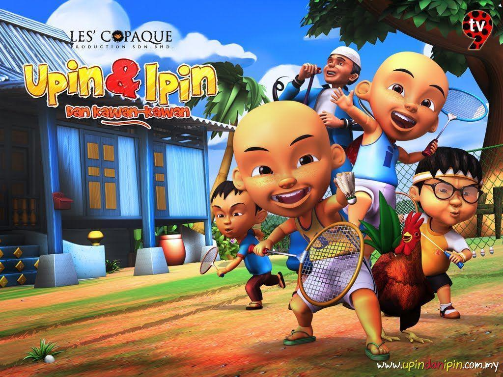 Wallpaper Animasi Upin Ipin Keren Doraemon