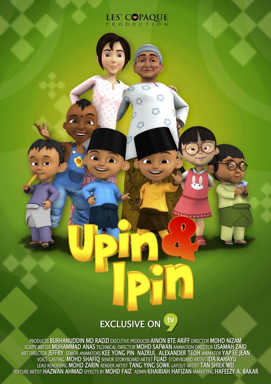Download Gambar Upin Ipin Keren Gambar Hitam Hd