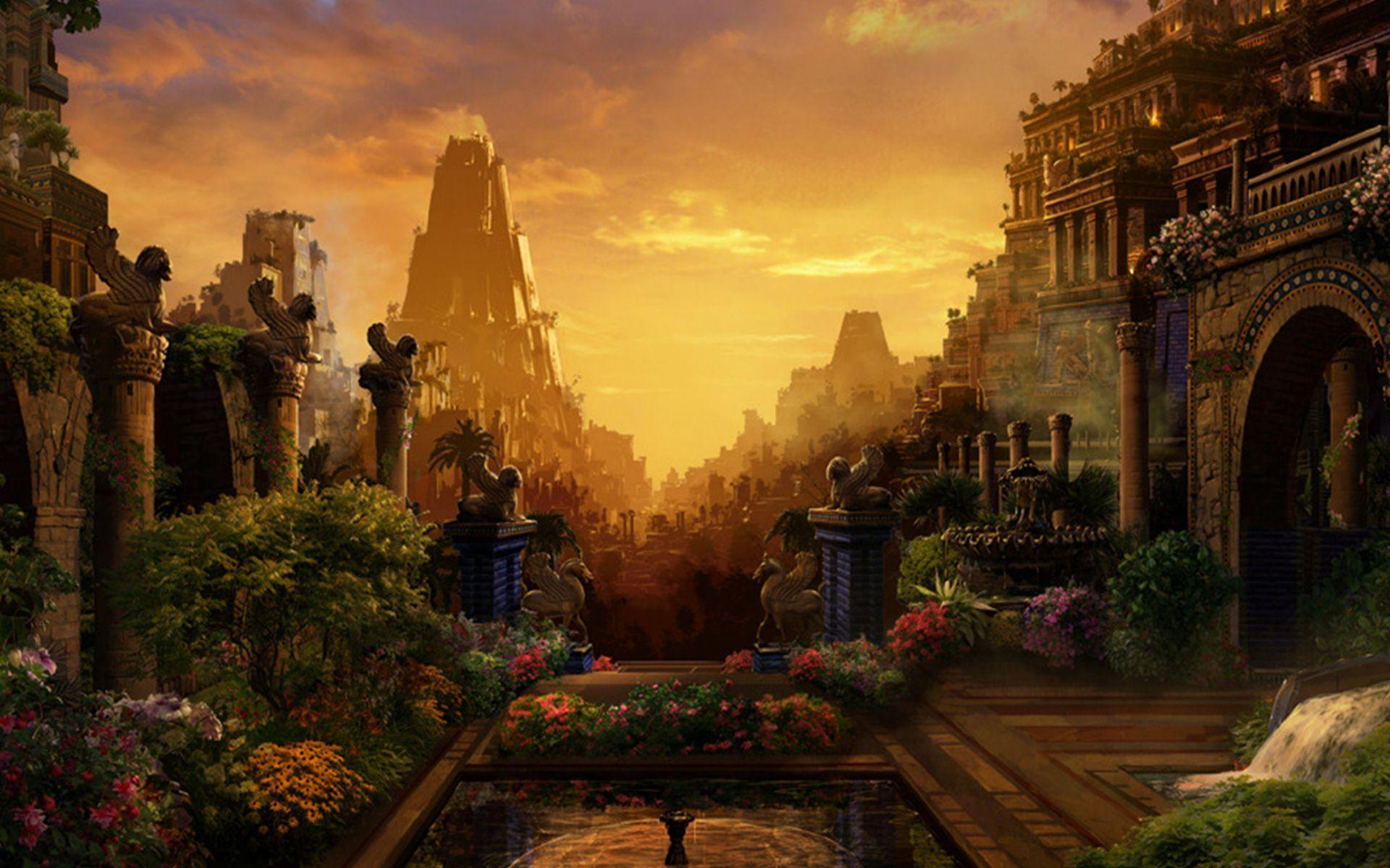 The Hanging Gardens Of Babylon Wallpapers  Wallpaper Cave