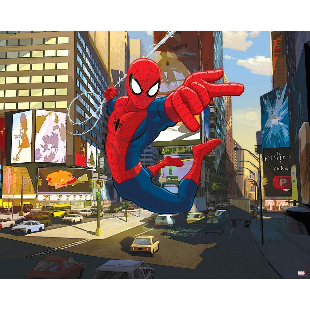 Walltastic Ultimate Spider-Man Wallpaper Mural 8ft x 10ft | Boy's ...