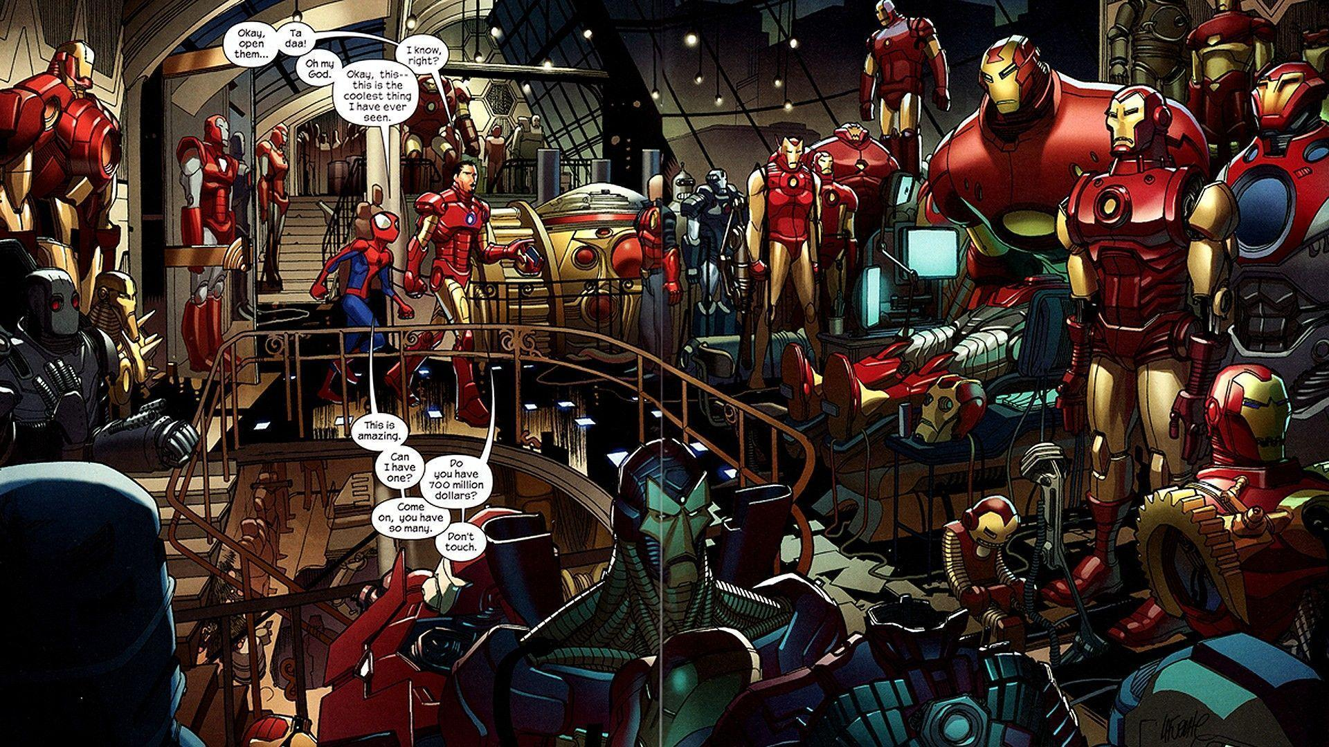 Iron Man comics Tony Stark Marvel Comics Ultimate Spider-Man ...