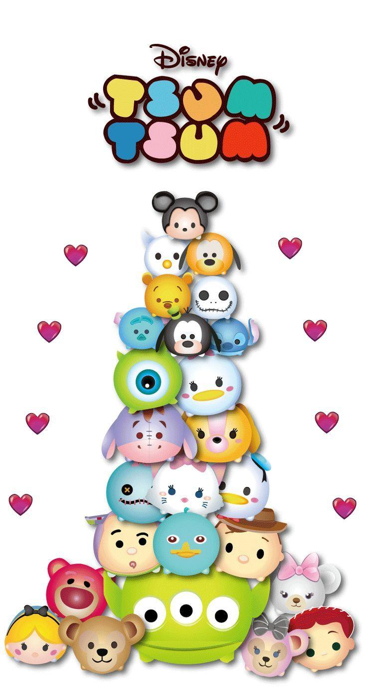 It is a graphic of Handy Tsum Tsum Disney