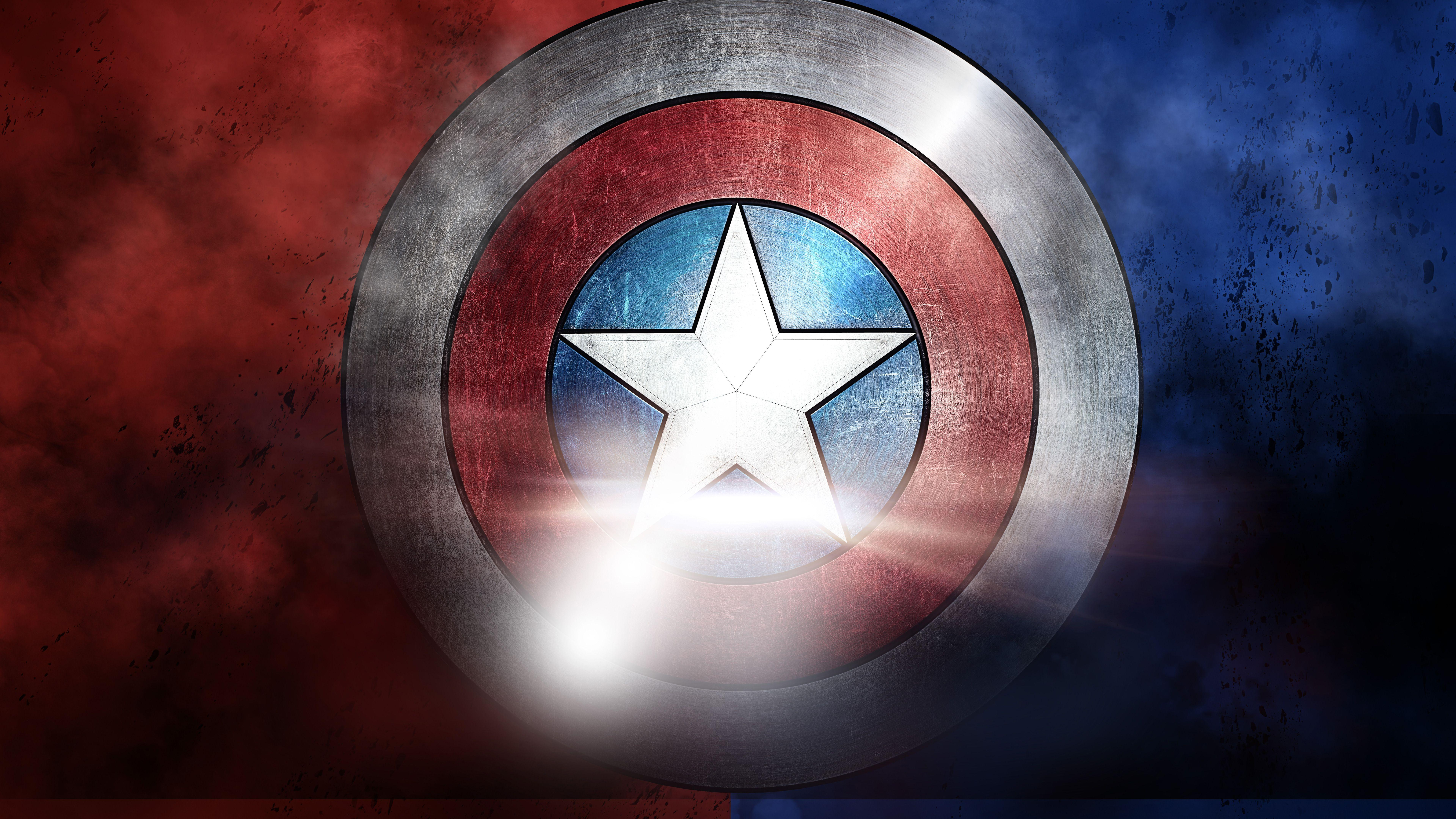 Wallpapers Captain America, Shield, American, Marvel, Movies / Most