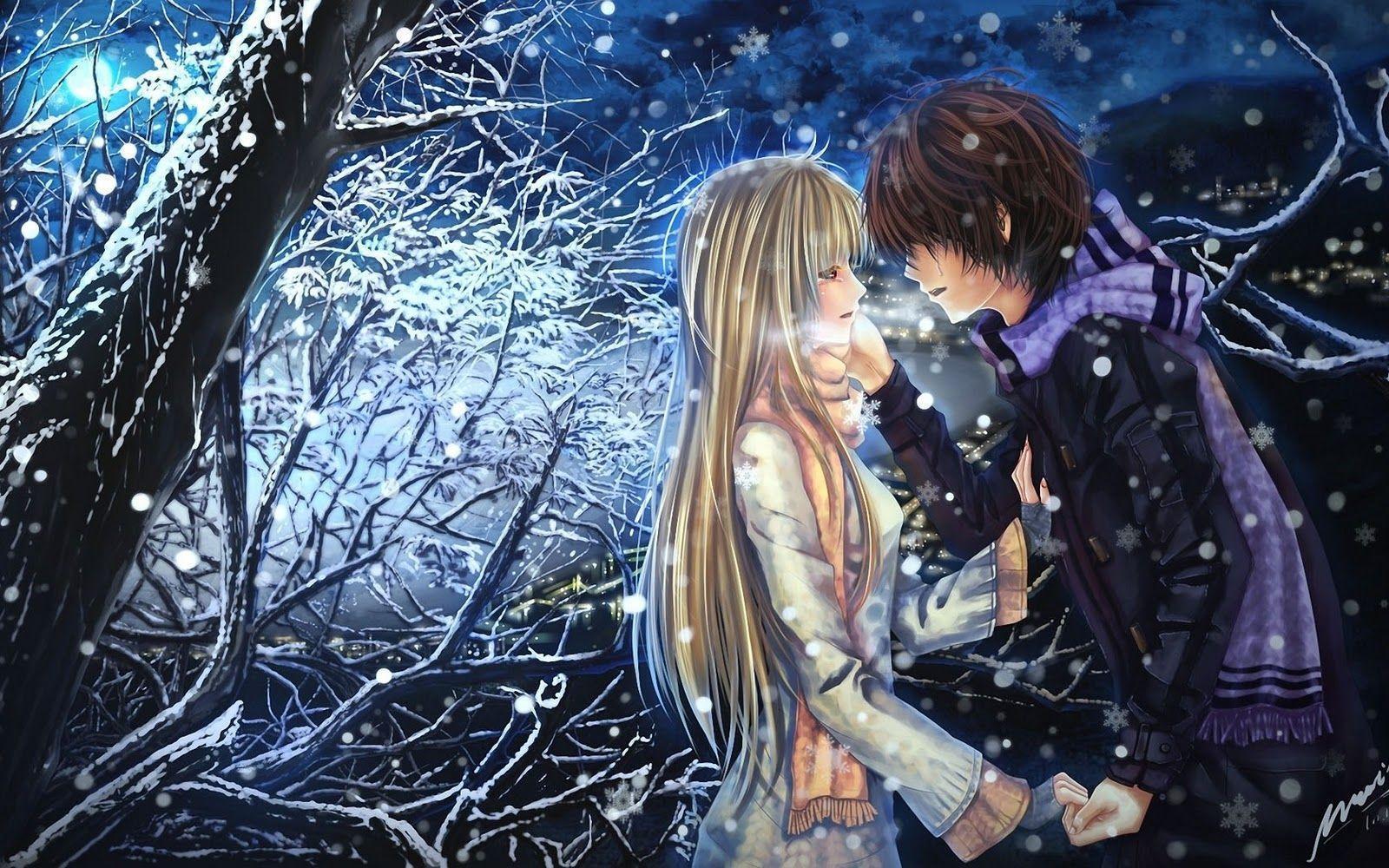 Download Anime Boy Girl Couple Love Cool Wallpaper 1600x1000