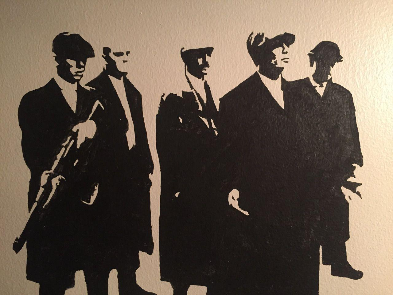Peaky Blinders projector wall art I made!