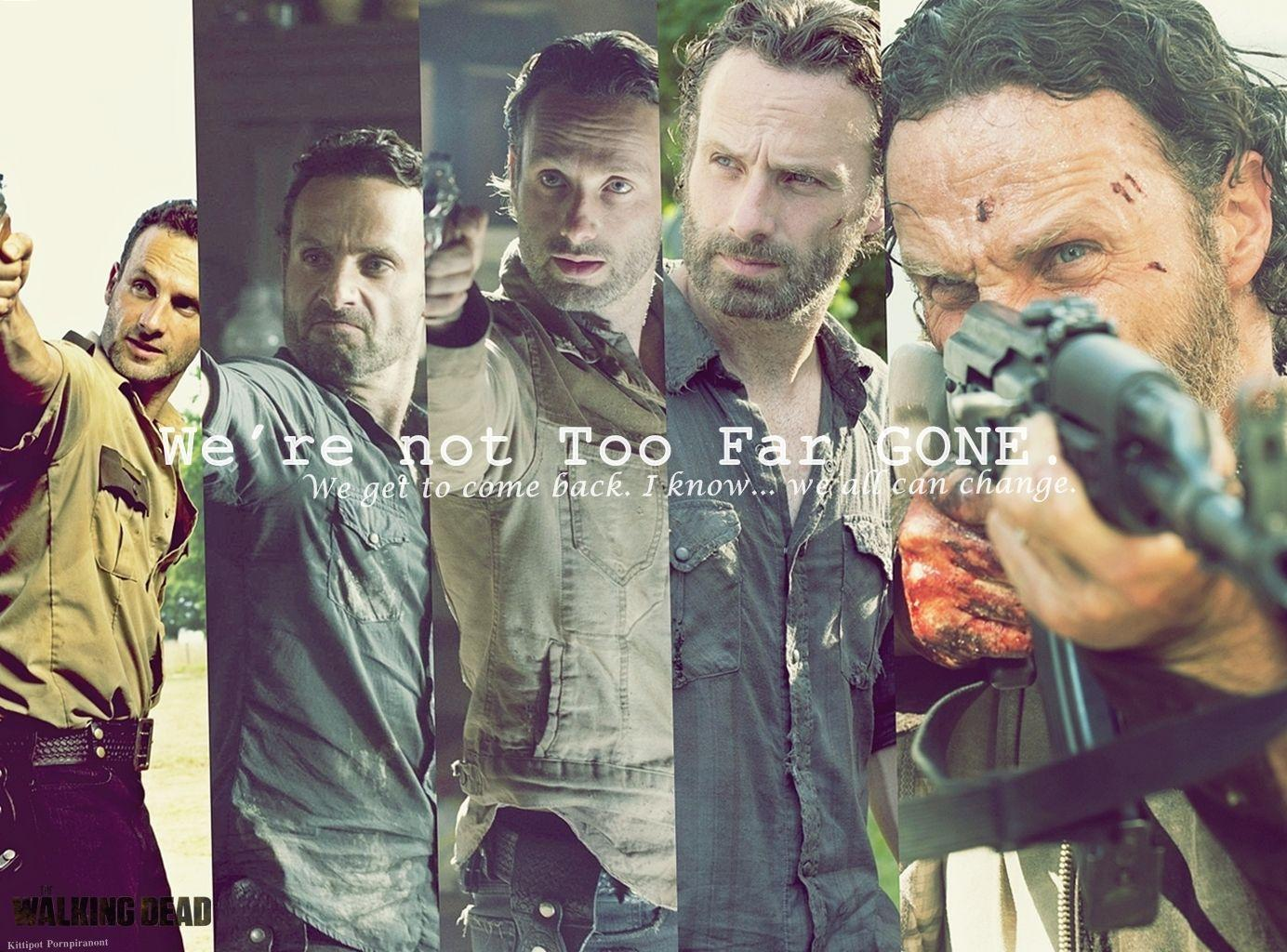 Rick Walking Dead Comic Wallpaper
