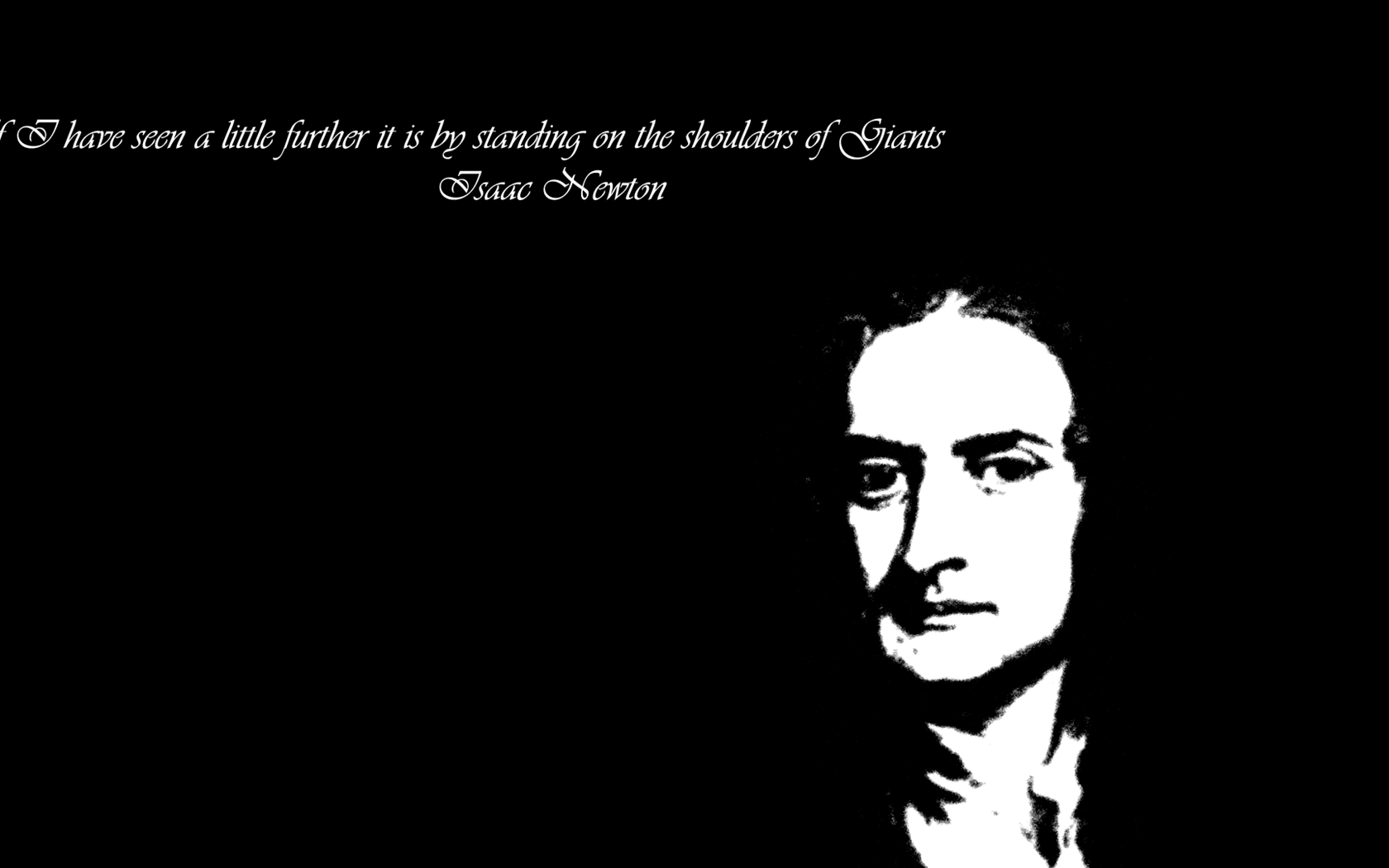 Isaac Newton Quote HD Wallpaper