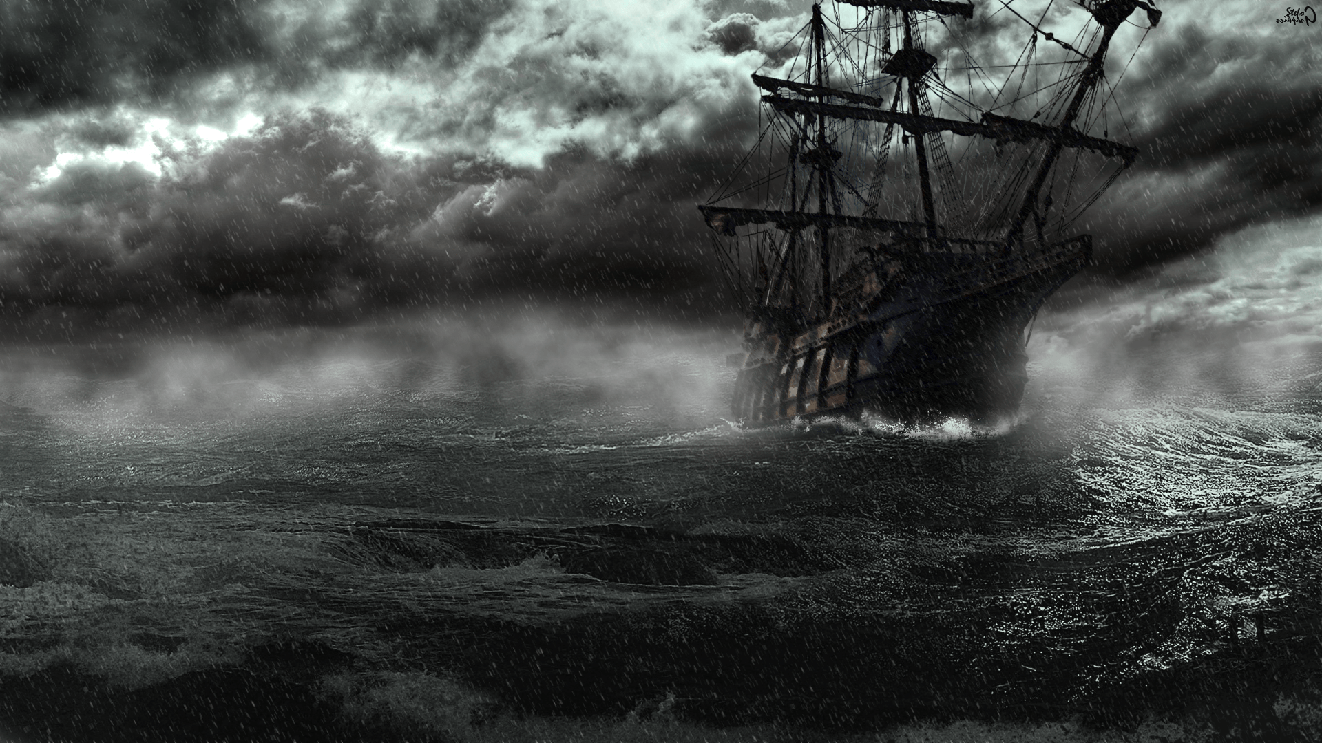 Photogallery Black Pearl Ship Wallpaper: