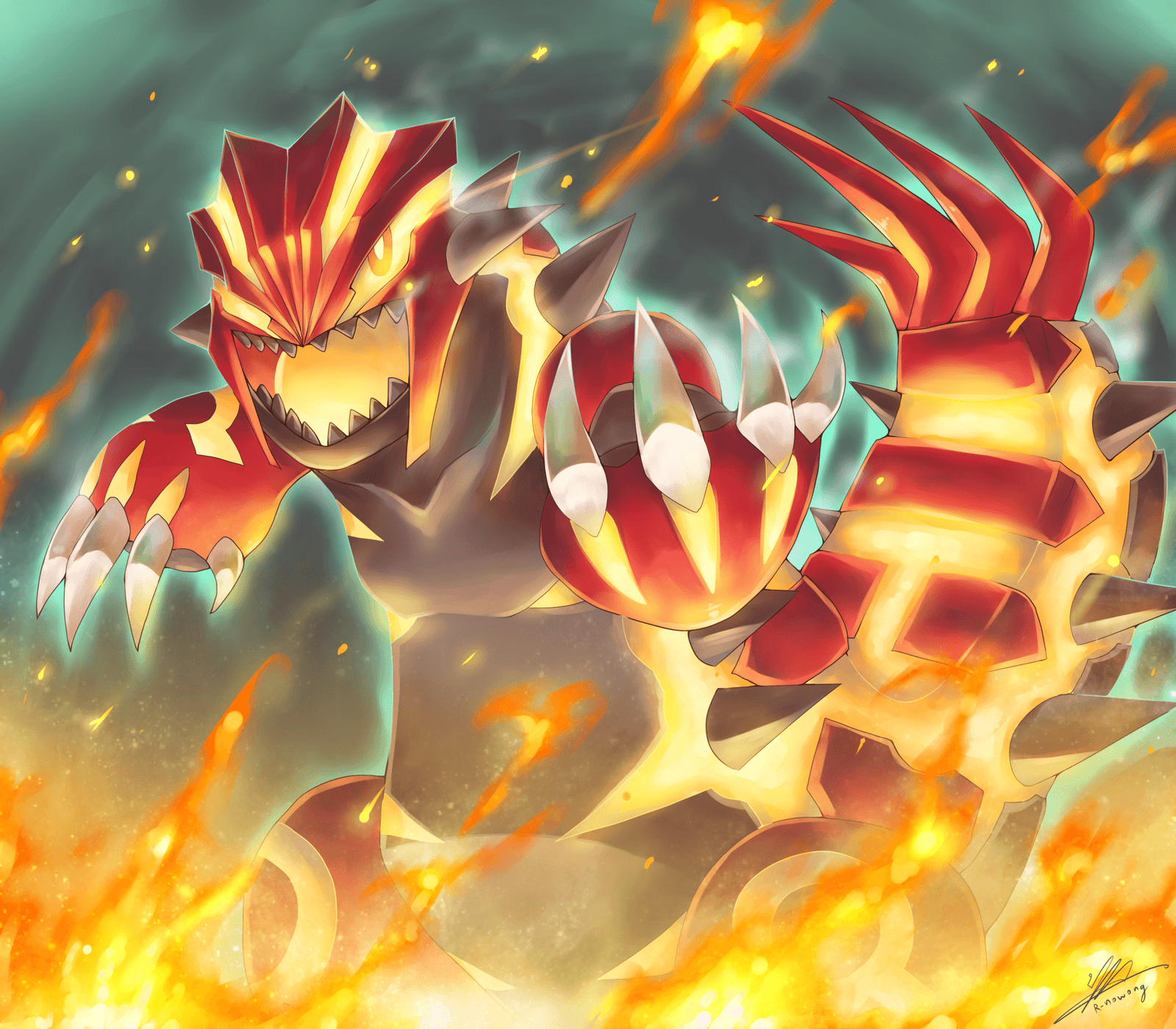 Groudon Japanese グラードン Guraadon is a Groundtype Legendary Pokémon introduced in Generation III Groudon is the Version Mascot for Pokémon Ruby and