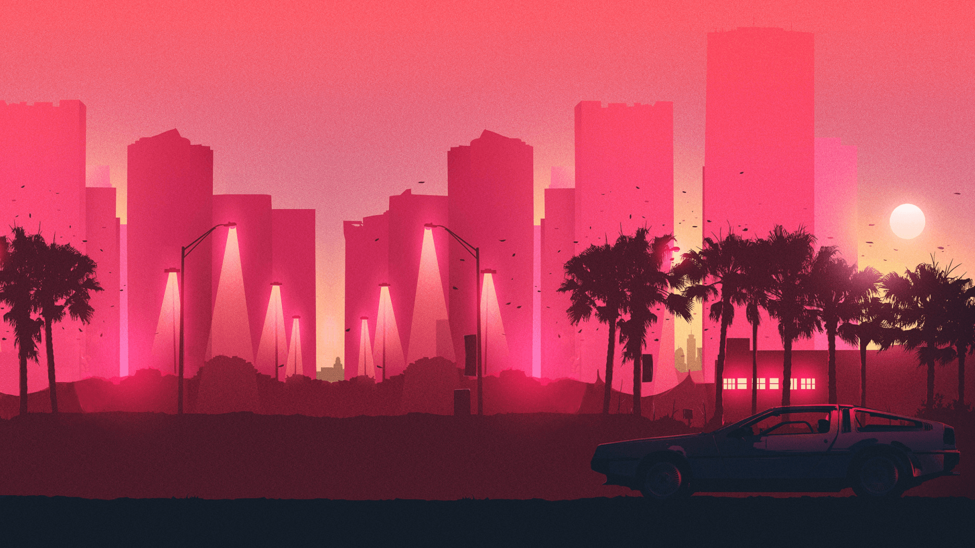 68 Retro Wave HD Wallpapers