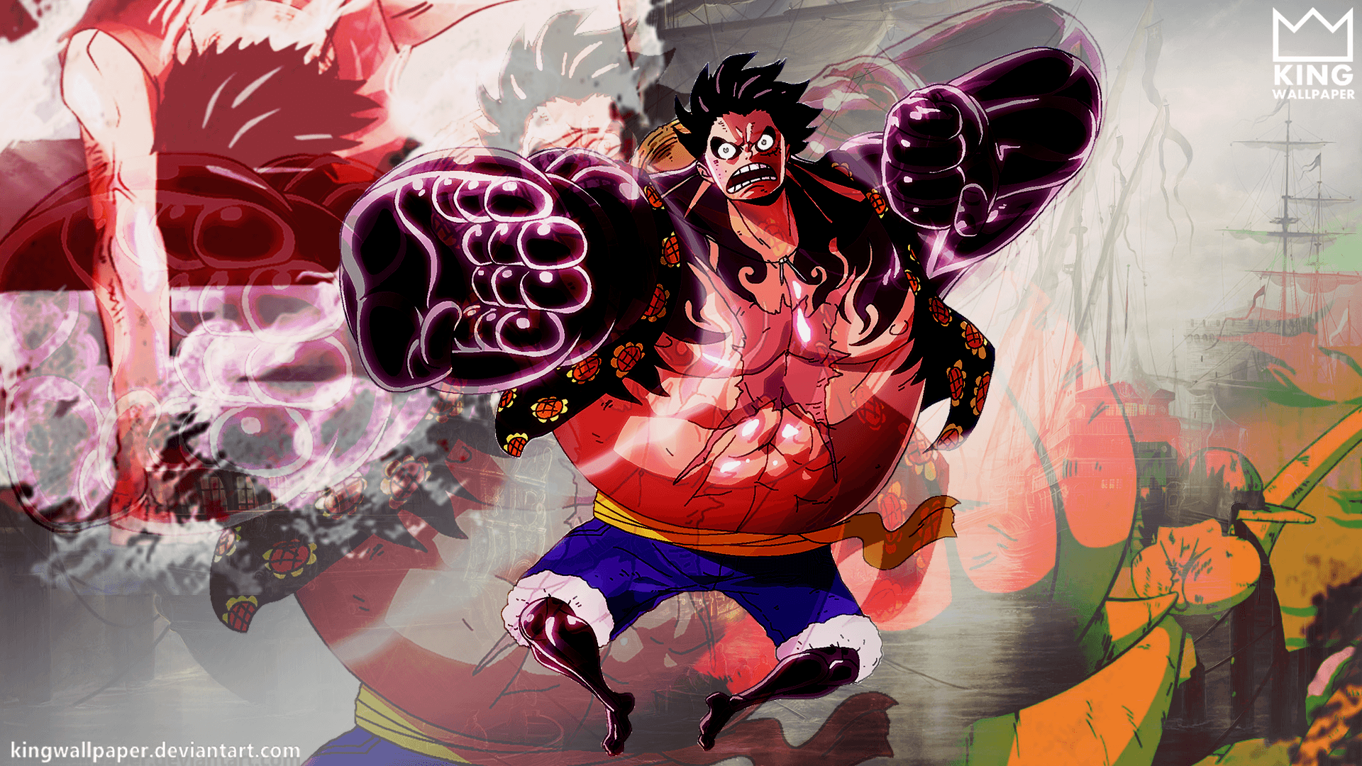 One Piece Wallpaper Luffy Gear Third Gear Fourth Wallpapers...