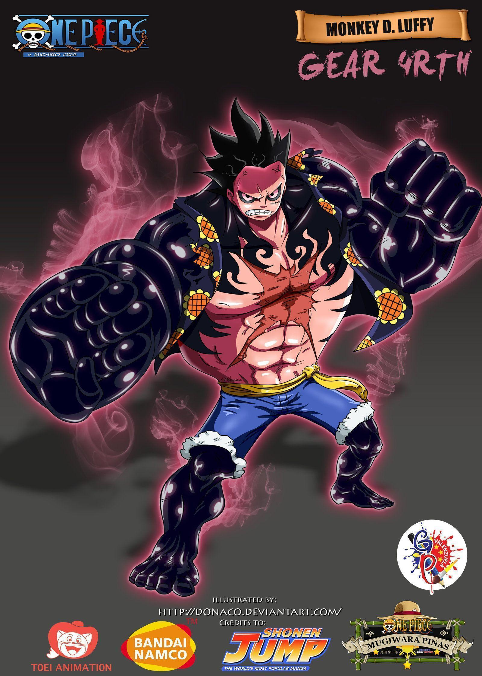 Monkey D. Luffy Gear 4rth by donaco.deviantart on @DeviantArt