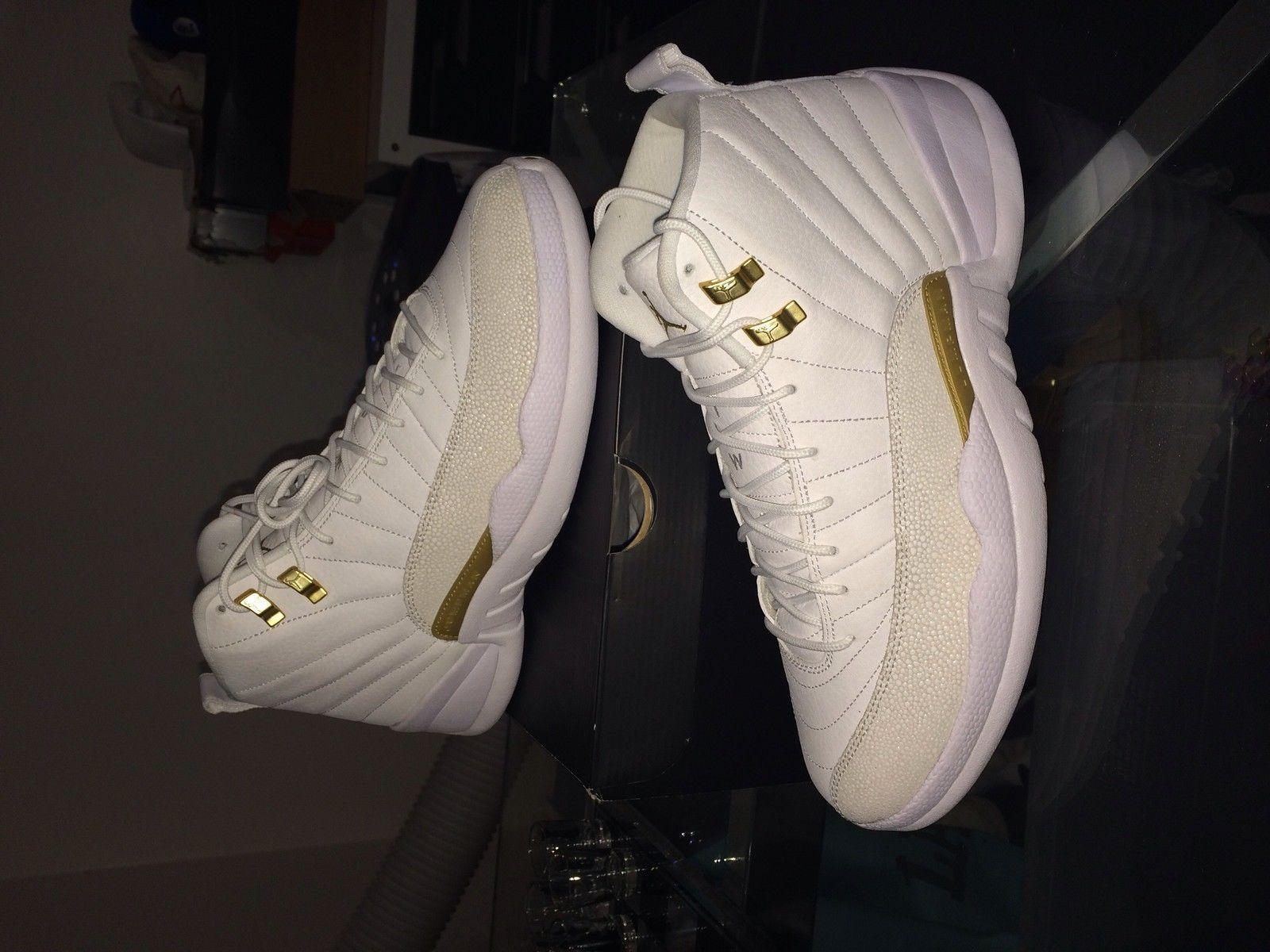 size 40 6422c f905c Authentic Air Jordan 12 OVO White And Gold Release Date Sale  168 .
