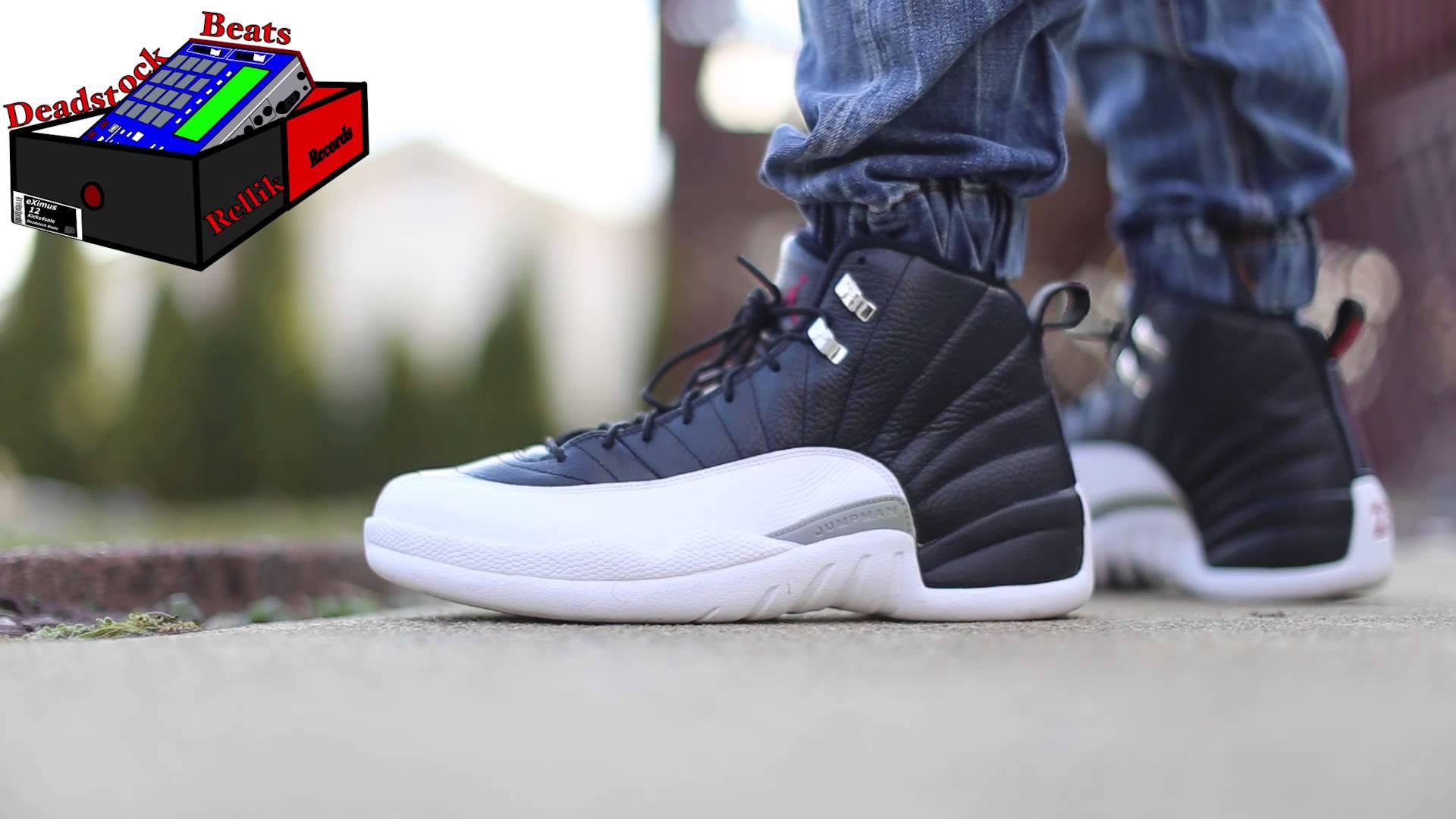 super popular 2a94e 70f18 Jordan 12 Playoffs 3-30-15 - YouTube