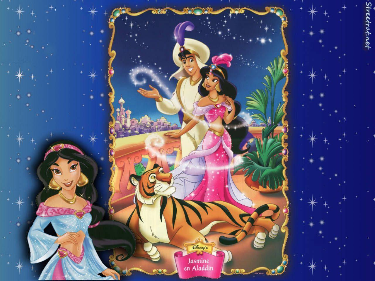 Aladdin and Jasmine Disney Couples Cartoon HD Wallpaper for ...