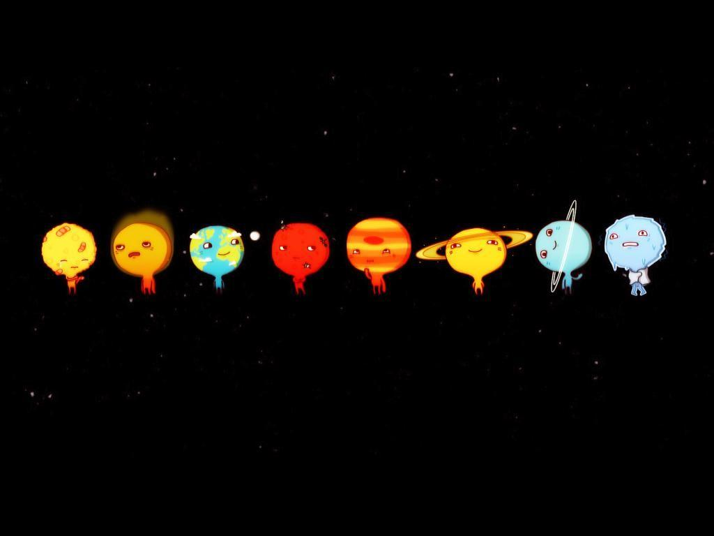 Wallpapers Neptune Cartoon Style Eight Planets Geek Com 1024x768 ...