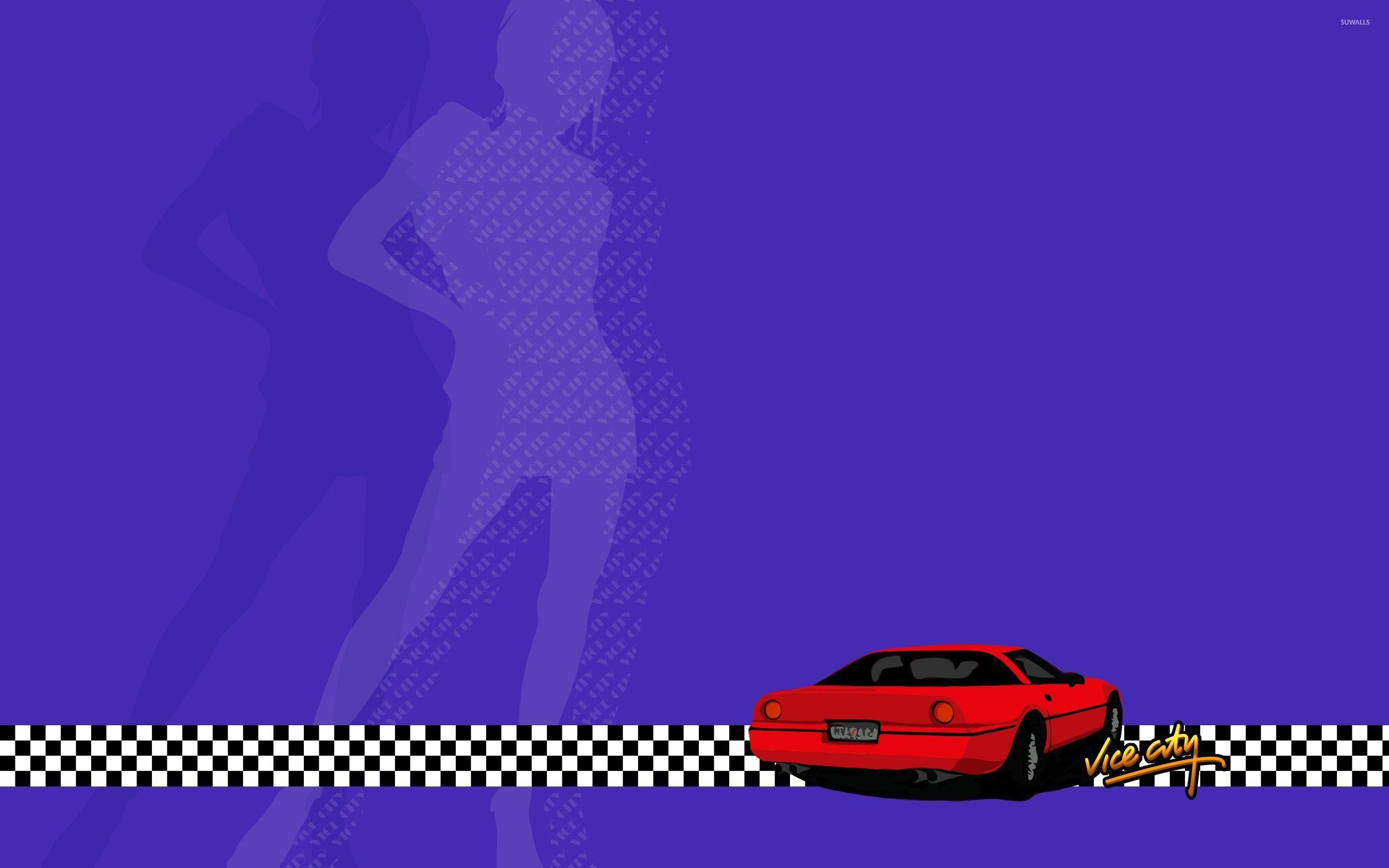 Red car in Grand Theft Auto: Vice City wallpaper - Game wallpapers ...