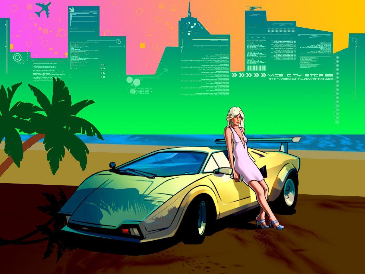 gta vice city iphone wallpaper