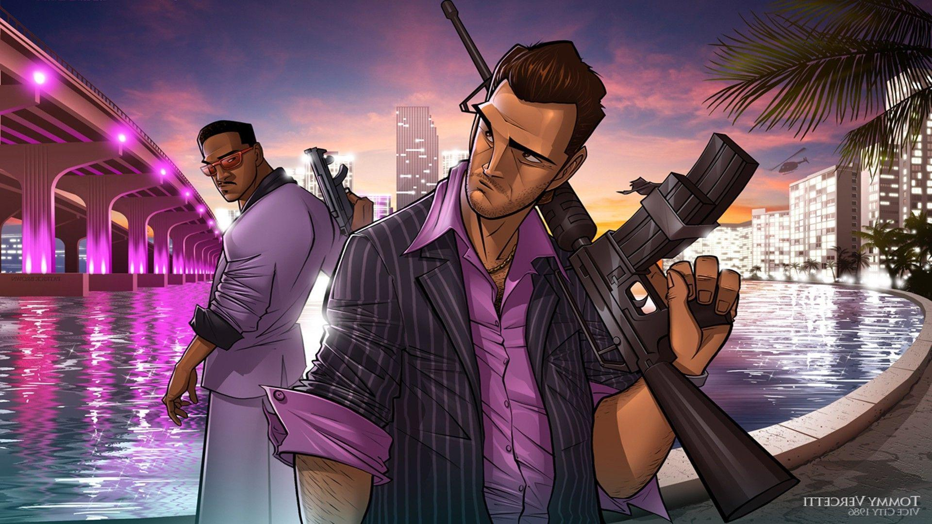 Grand Theft Auto Vice City, PC Gaming, Tommy Vercetti, Lance Vance