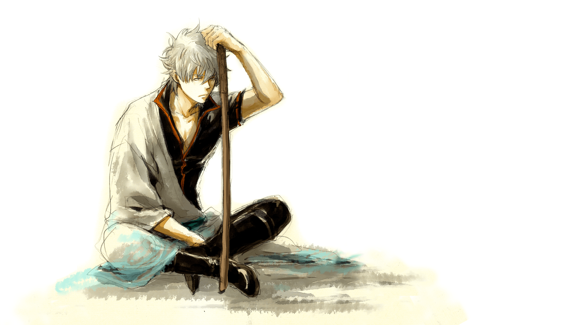 anime, Gintama, White Hair, Anime Boys, Sakata Gintoki Wallpapers