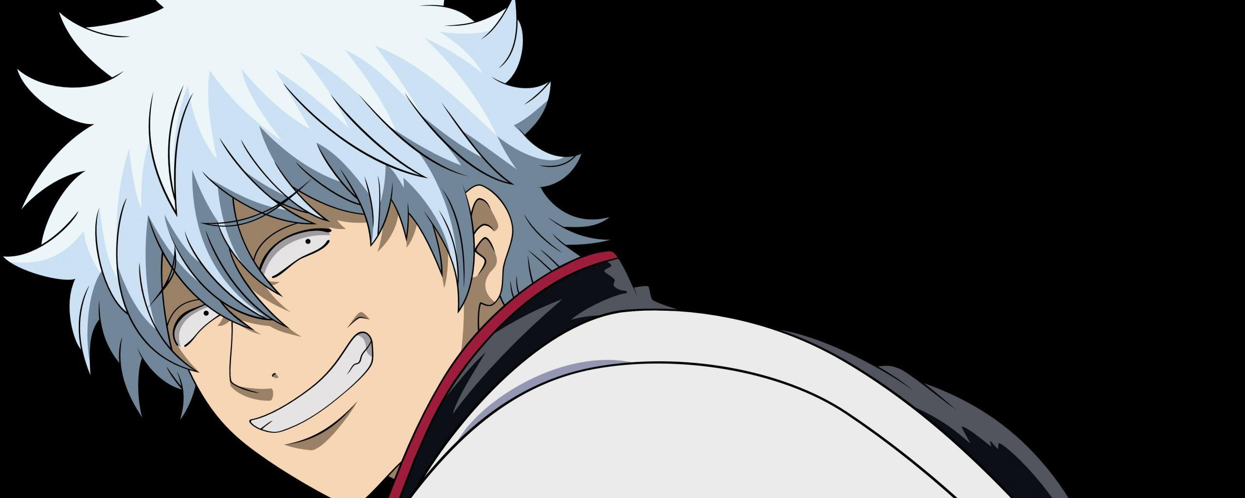 Download Wallpapers 2560x1024 Gintama, Gintoki sakata, Art Dual