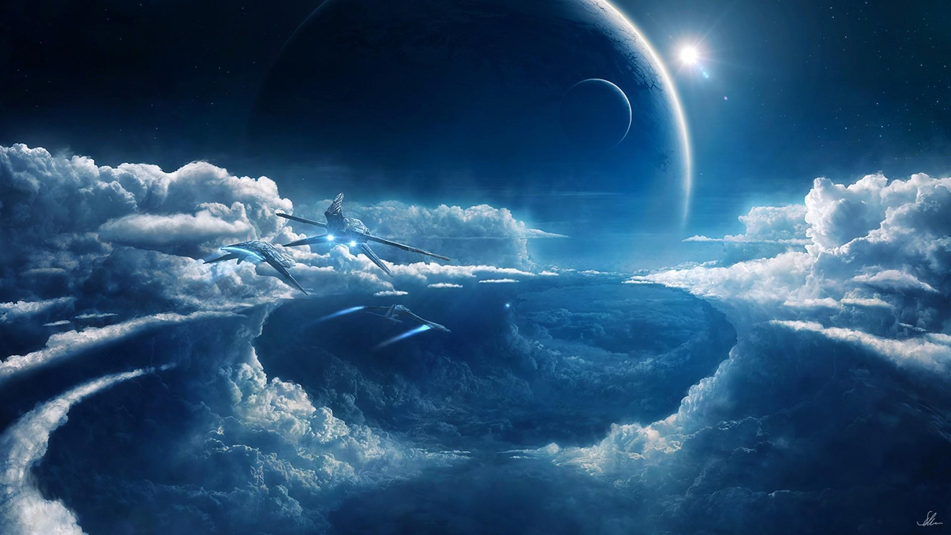 Outer space planets prometheus wallpapers