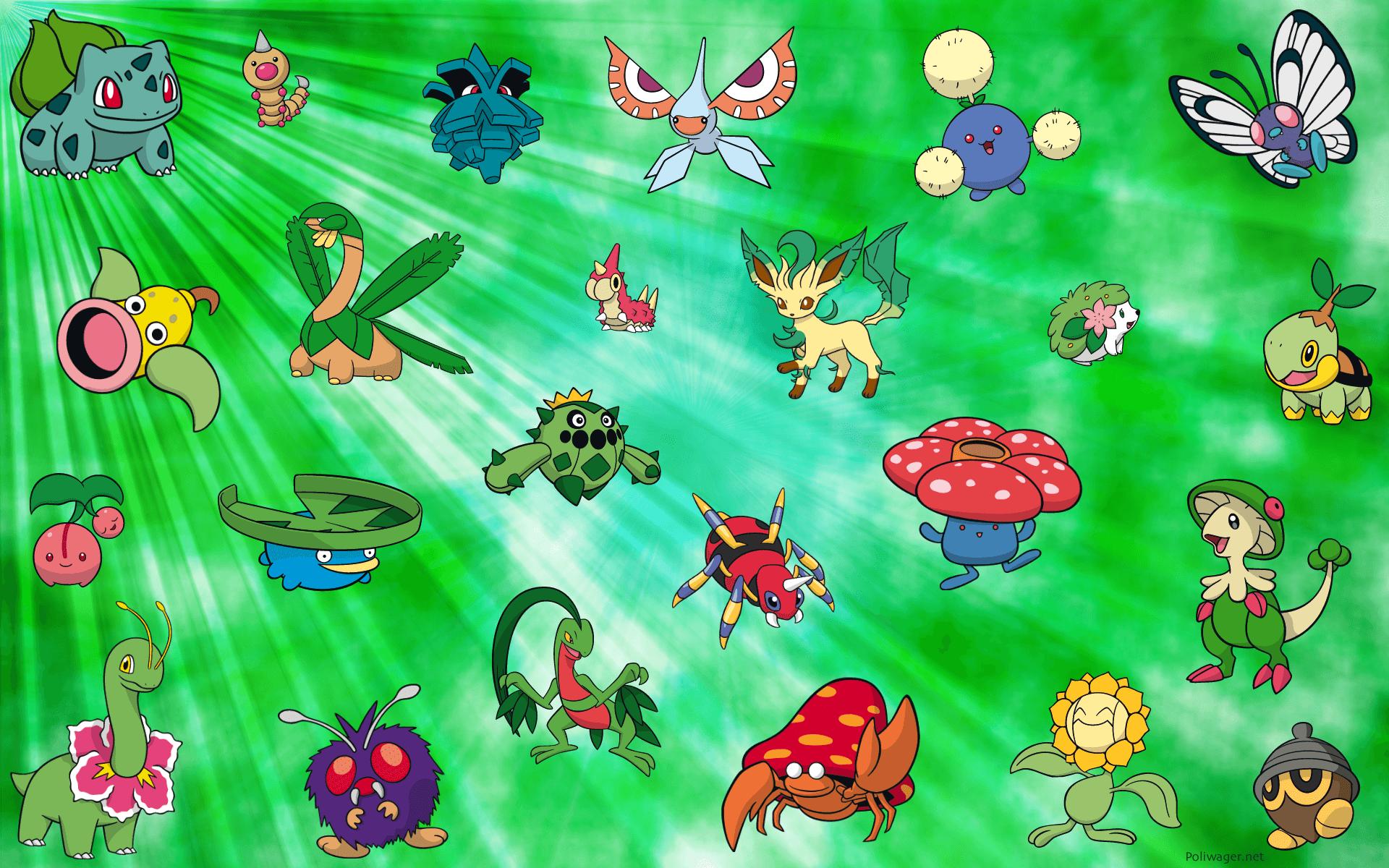 Grass Pokémon Wallpapers Wallpaper Cave