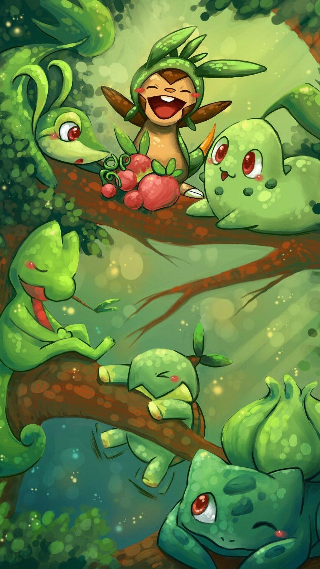 Grass Starter Pokemon Wallpaper Grass Pokémon Wal...