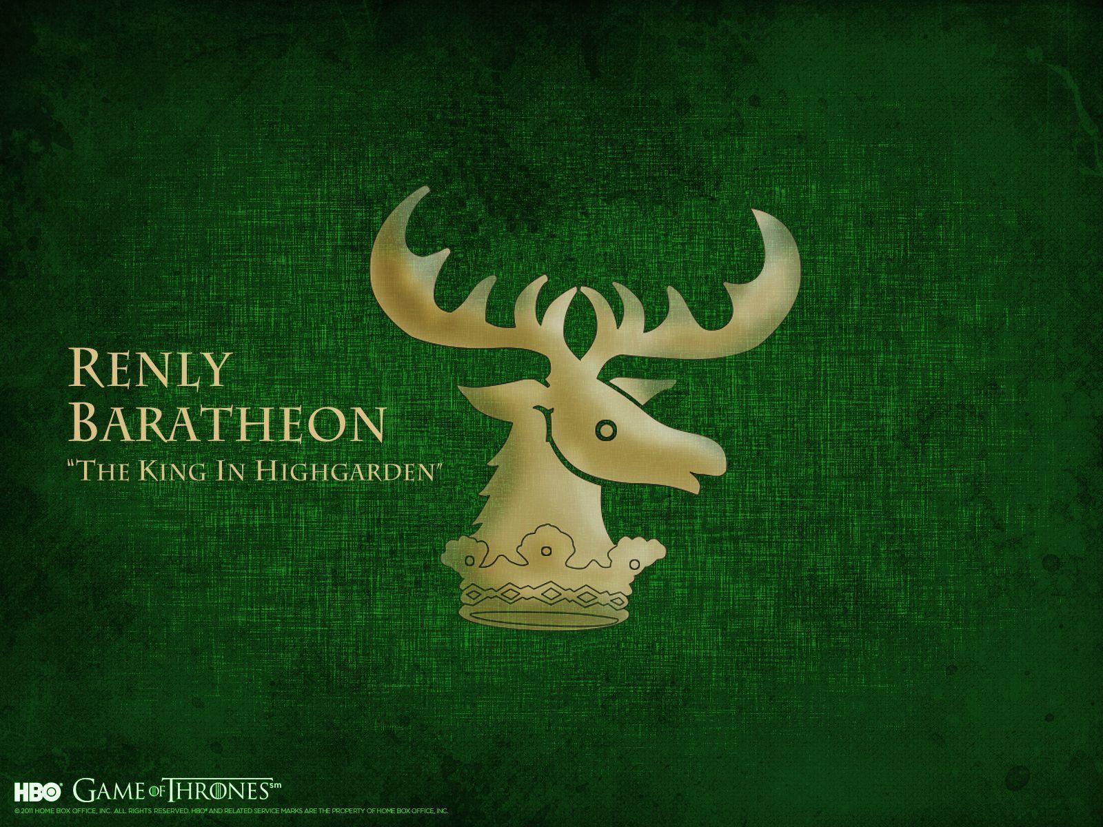 House Tyrell Wallpaper House Baratheon...
