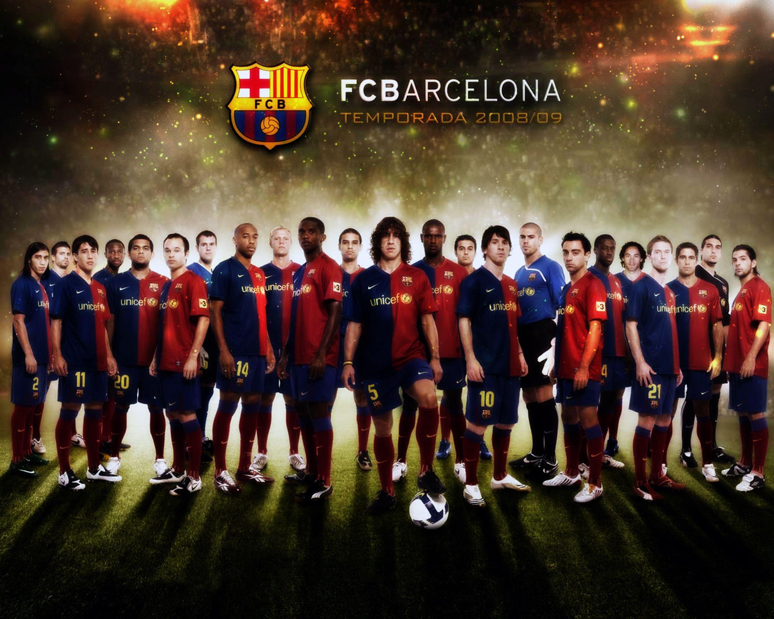 FC Barcelona National Football Team Zoom Background 5